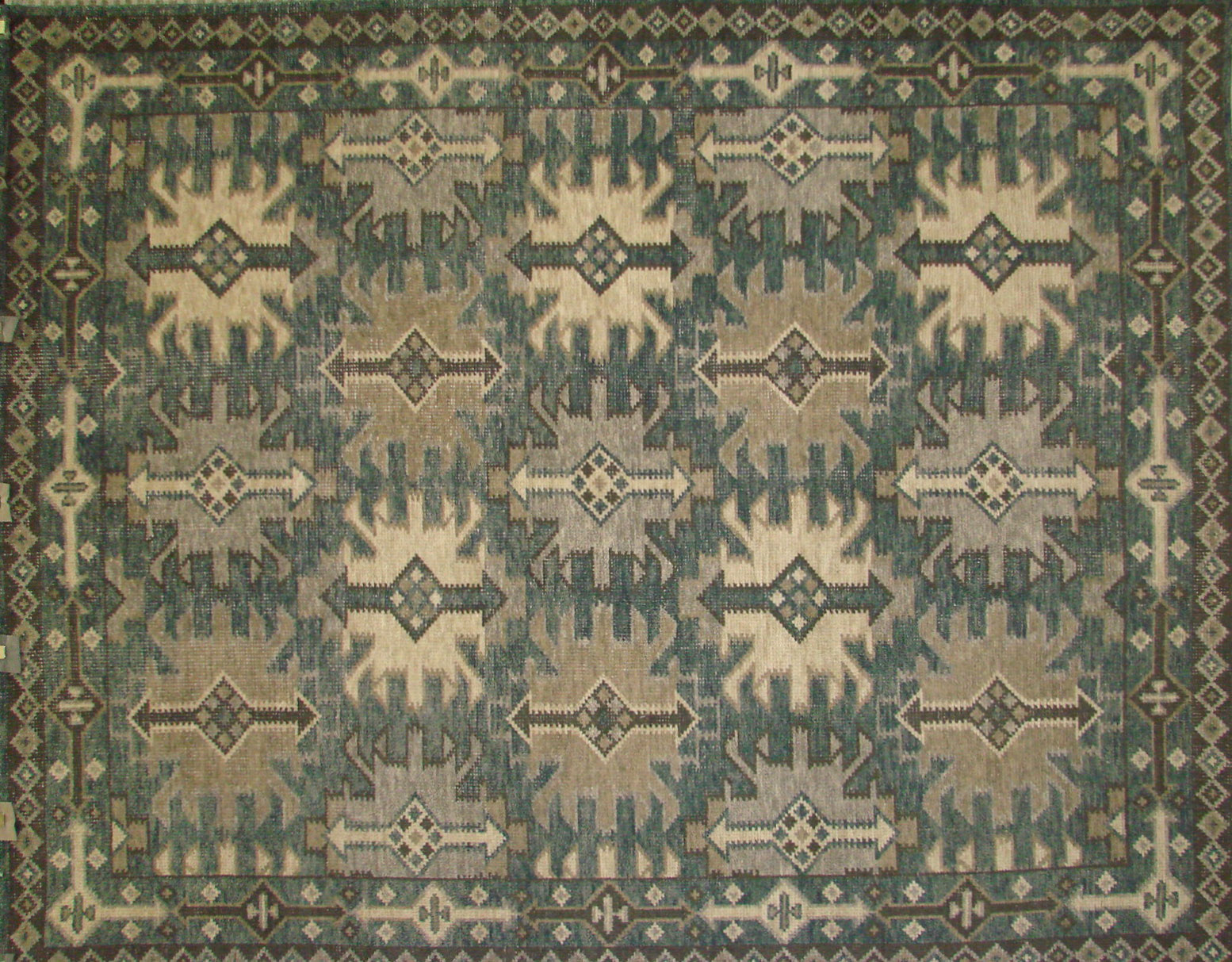 8x10 Oushak Hand Knotted Wool Area Rug - MR021917