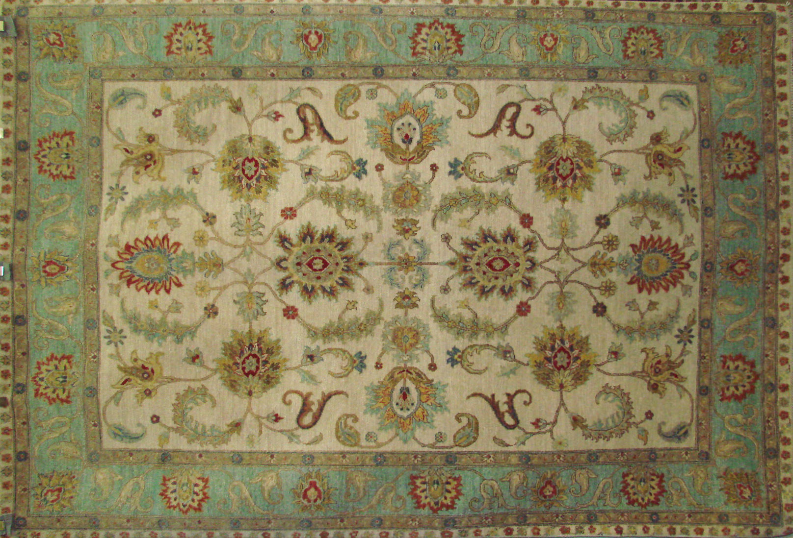 6x9 Traditional Hand Knotted Wool Area Rug - MR021974