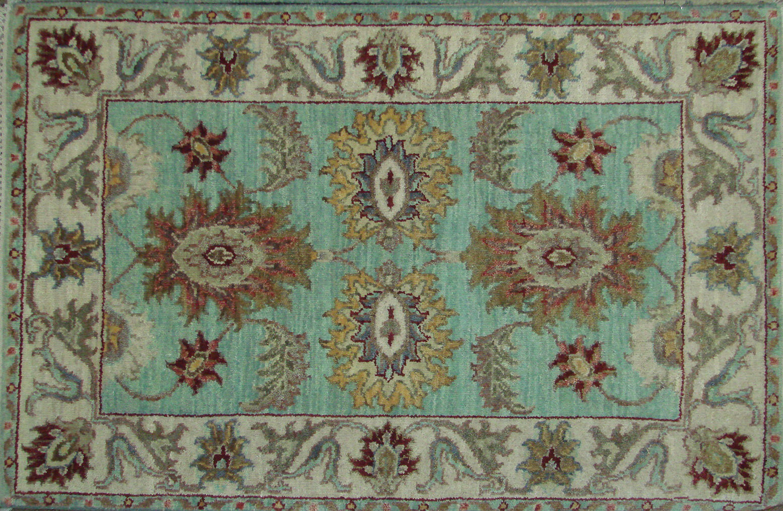 2X3 Traditional Hand Knotted Wool Area Rug - MR021988