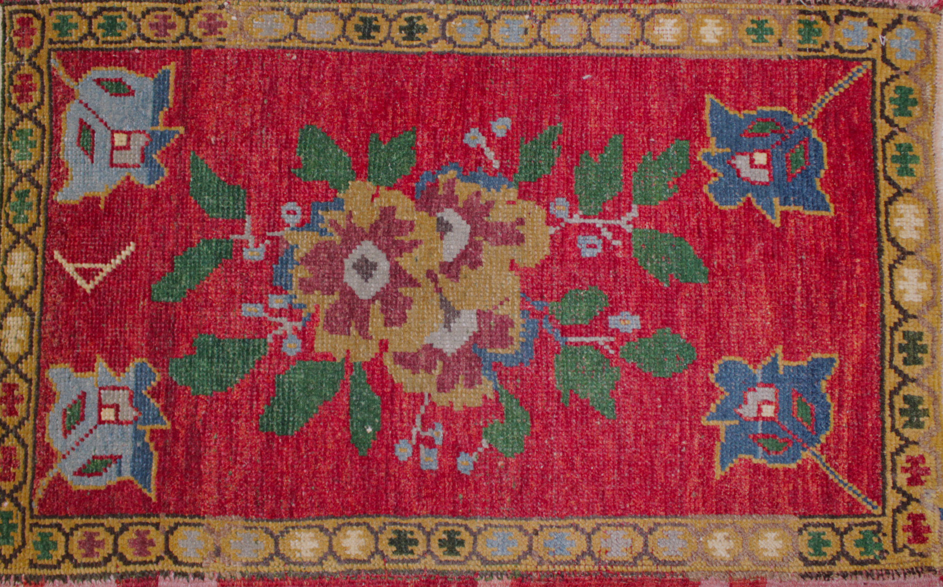 2X3 Oushak Hand Knotted Wool Area Rug - MR022043