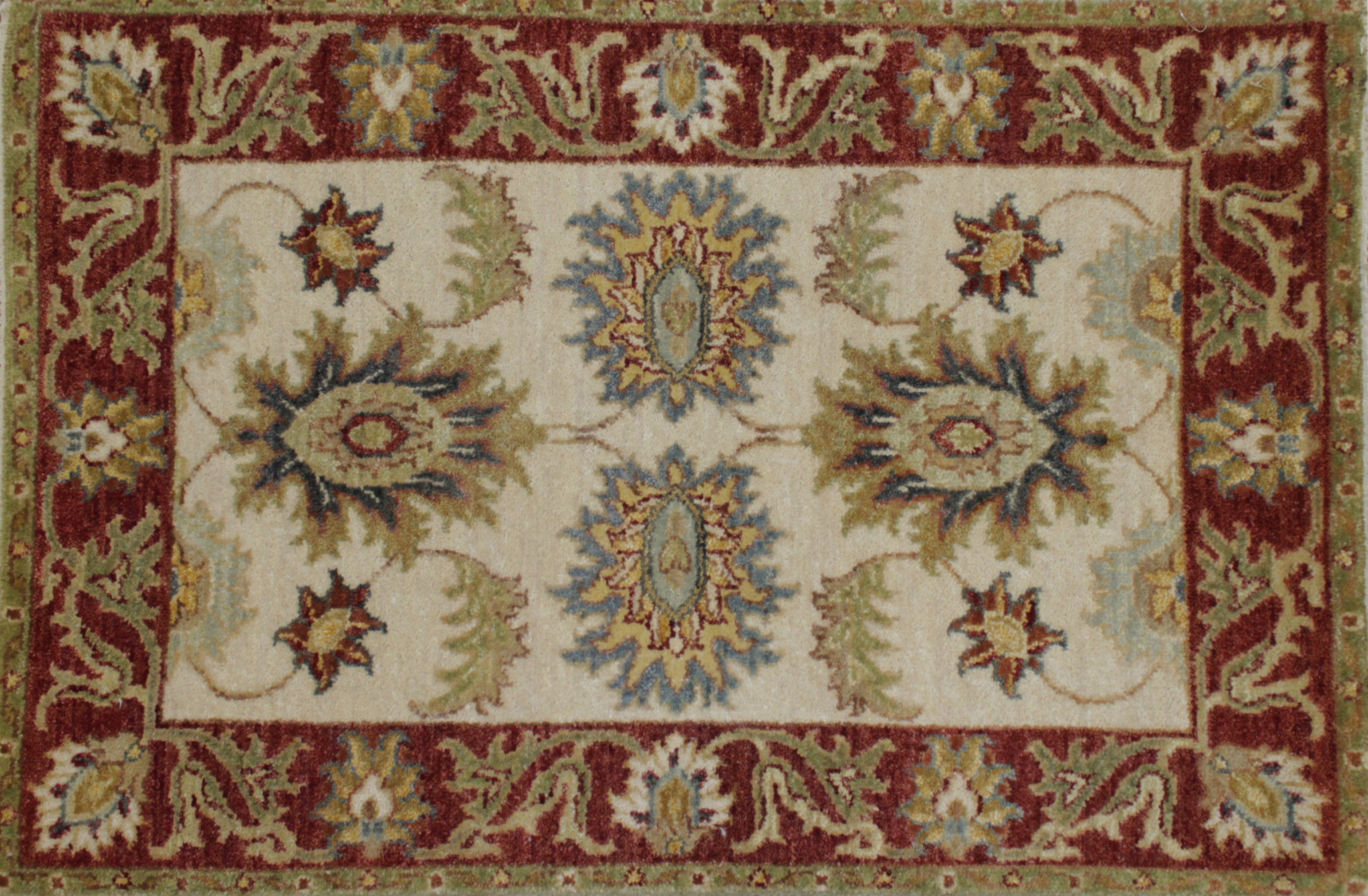 2X3 Traditional Hand Knotted Wool Area Rug - MR022076