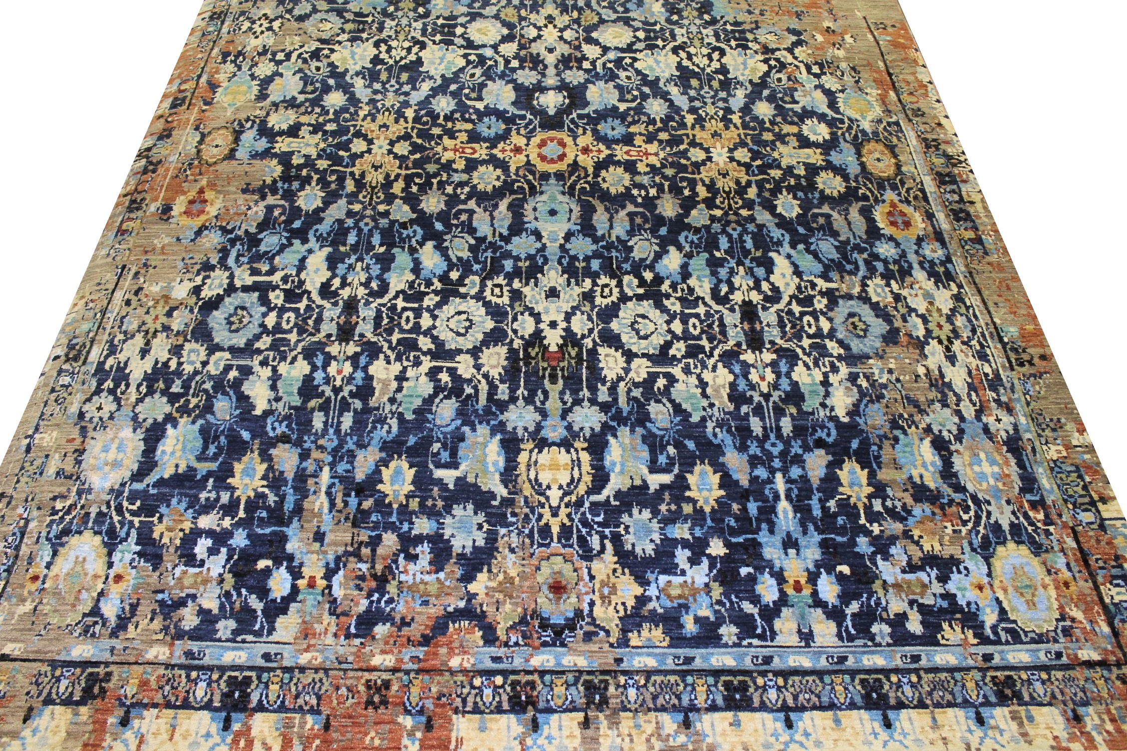 9x12 Contemporary Hand Knotted Wool Area Rug - MR022154