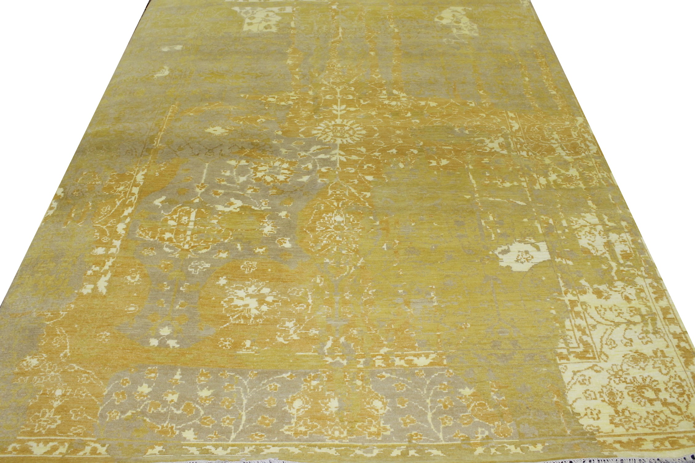 9x12 Contemporary Hand Knotted Wool Area Rug - MR022208