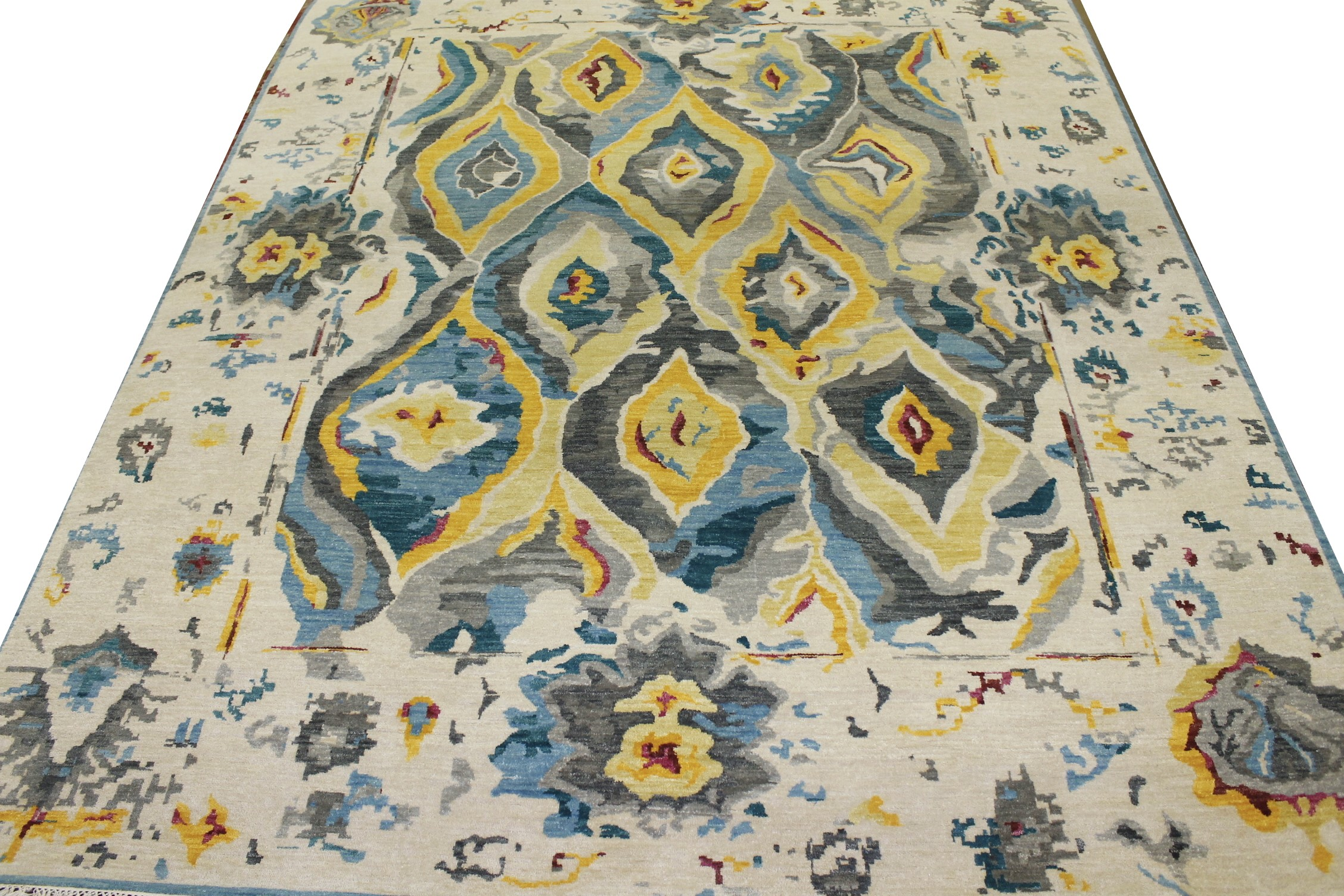 8x10 Contemporary Hand Knotted Wool Area Rug - MR022209