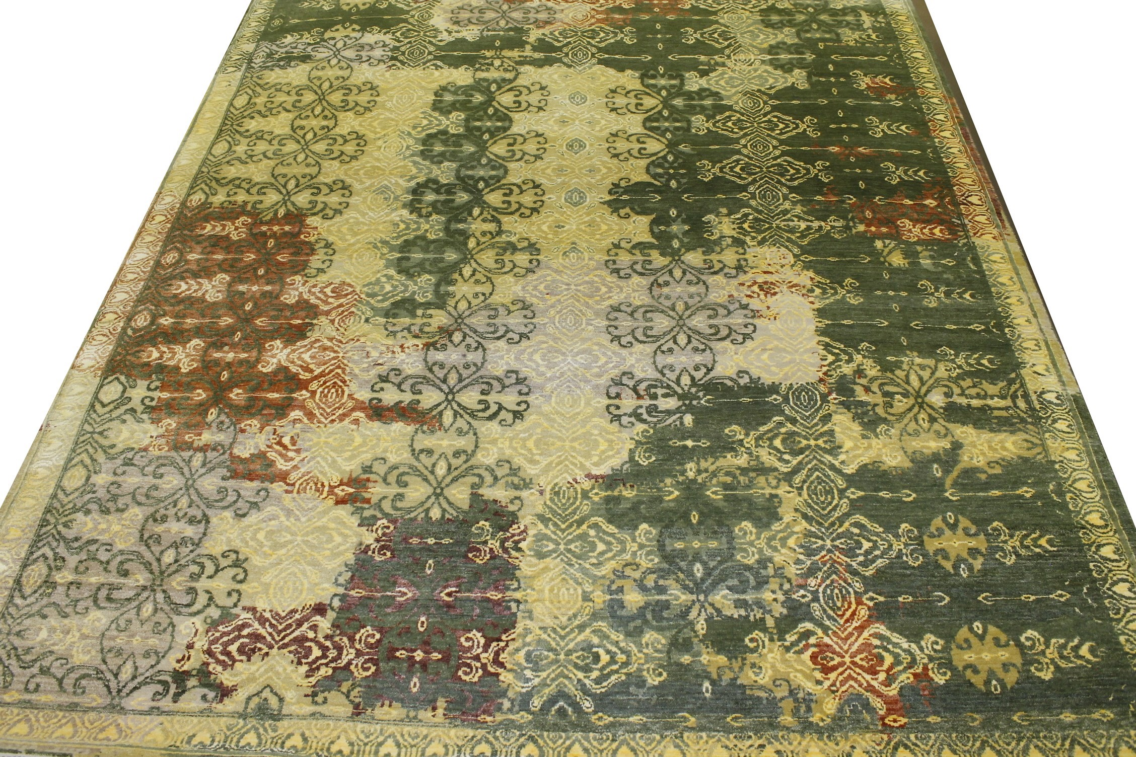 8x10 Contemporary Hand Knotted Wool Area Rug - MR022210