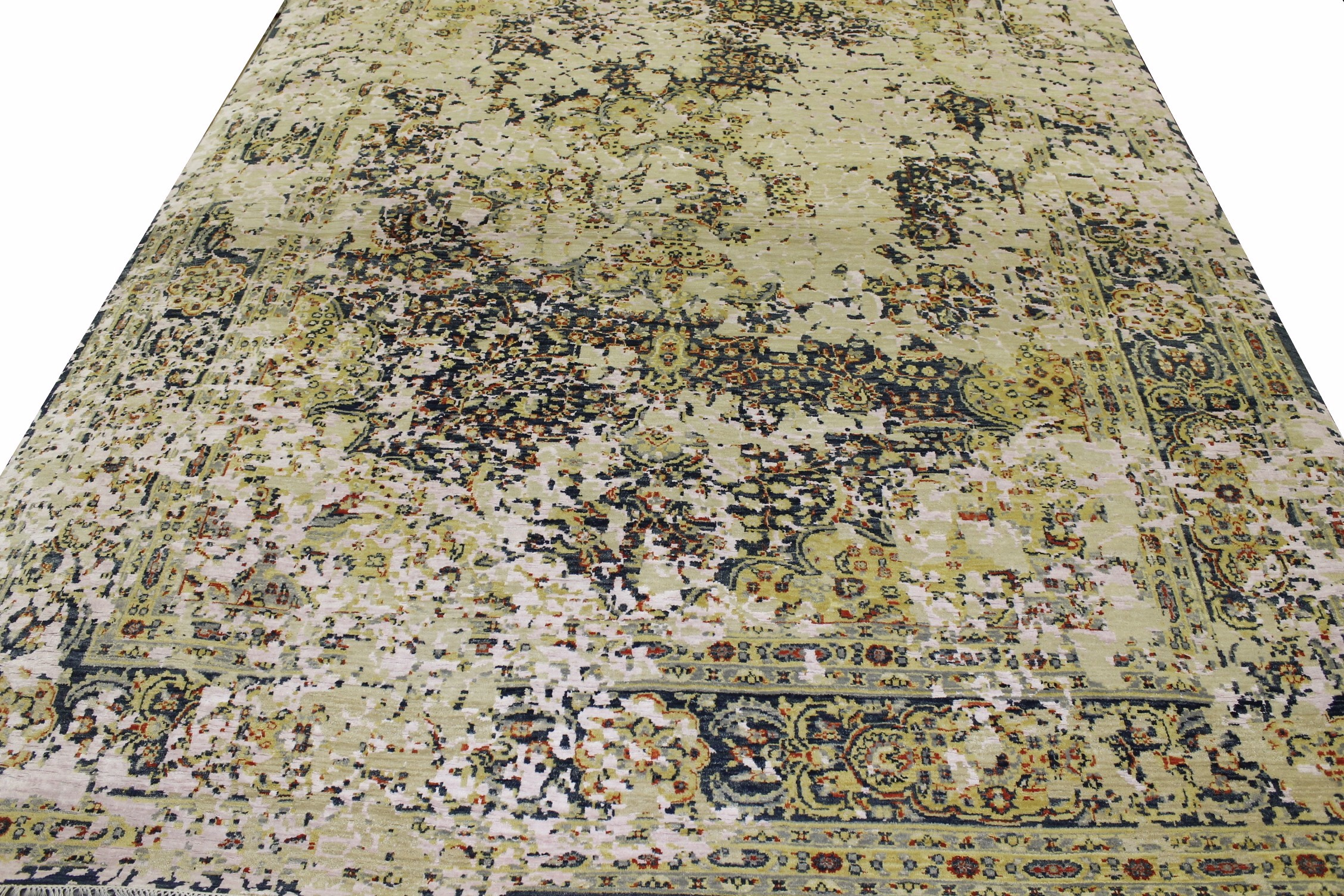 9x12 Contemporary Hand Knotted Wool Area Rug - MR022213