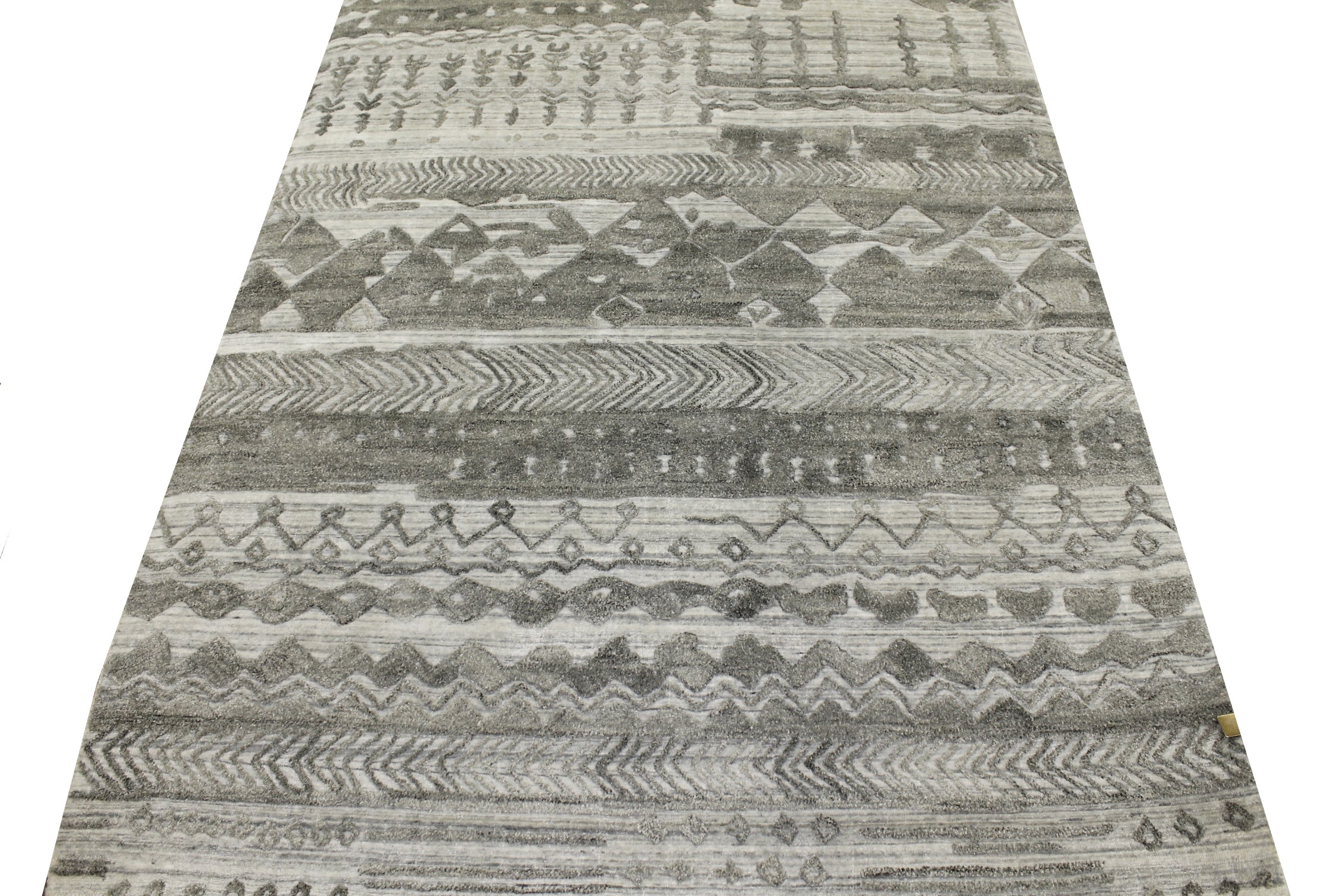 5x7/8 Contemporary Hand Knotted Wool Area Rug - MR022279