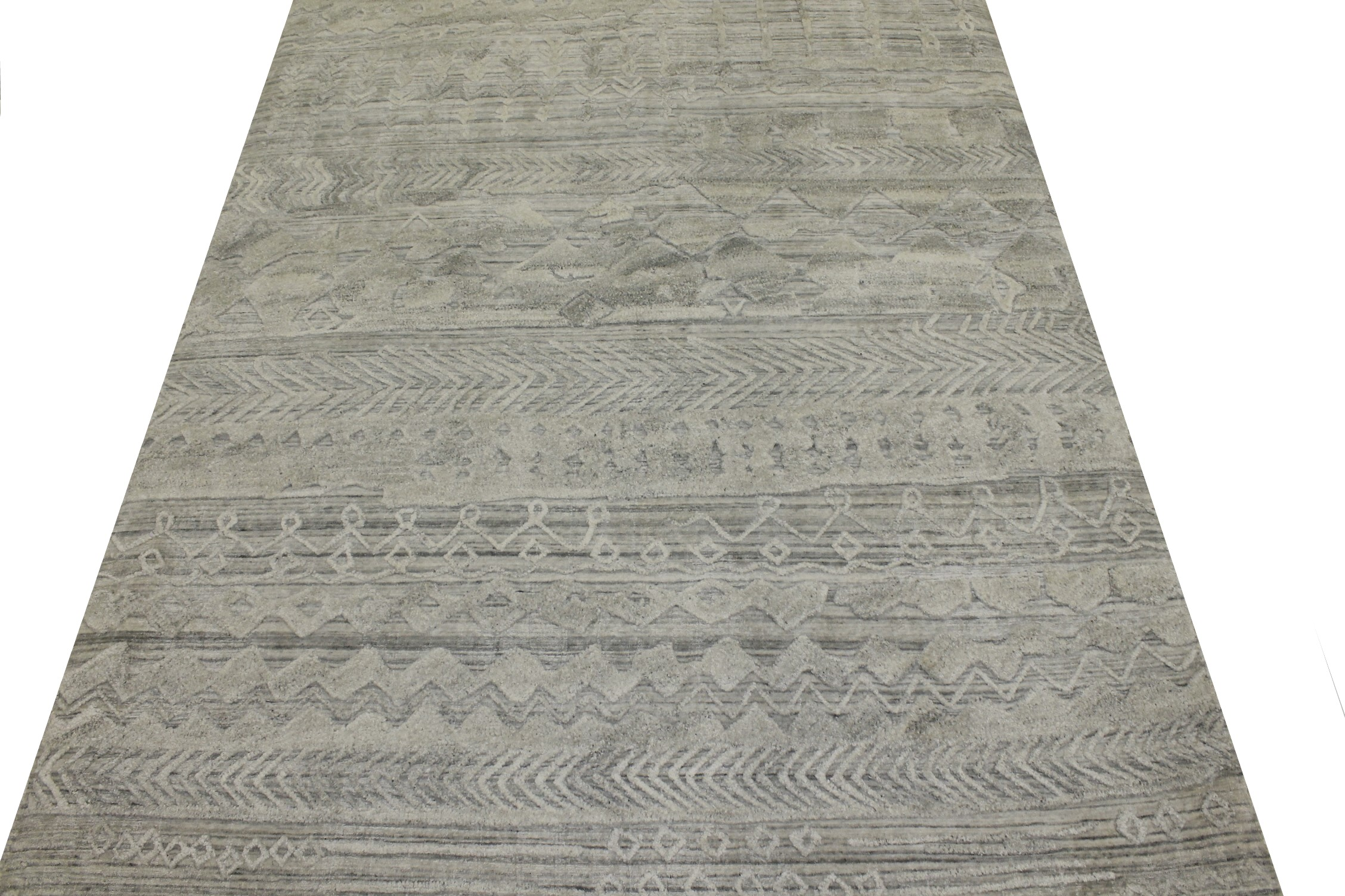 5x7/8 Contemporary Hand Knotted Wool Area Rug - MR022284
