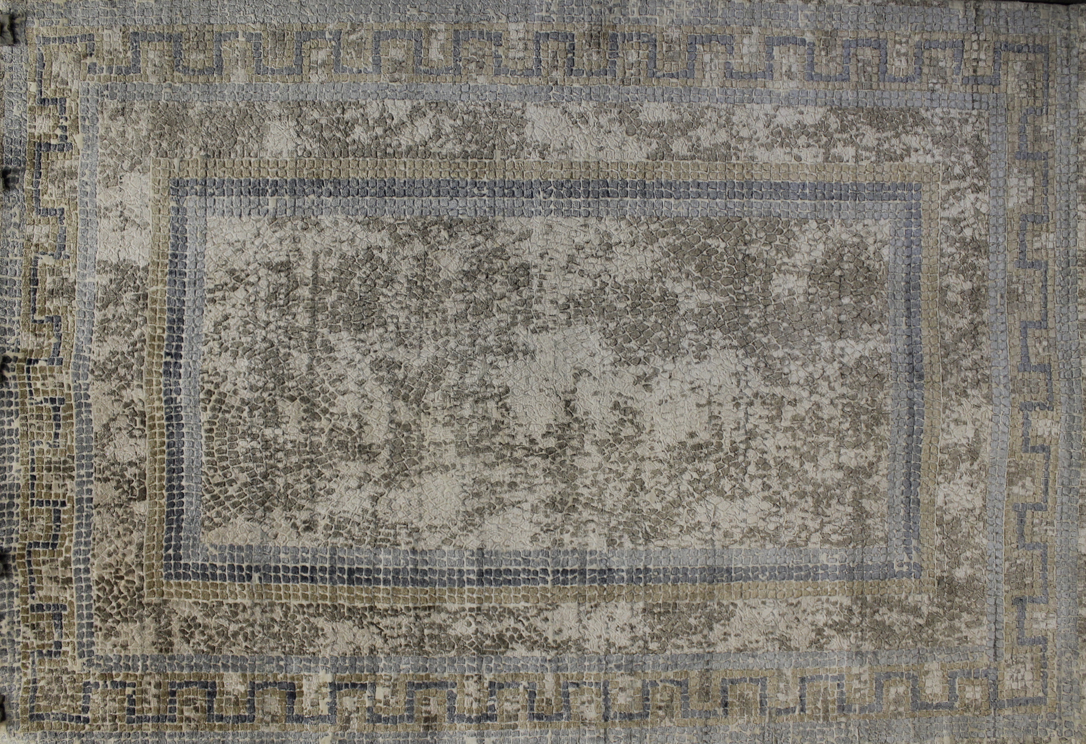 6x9 Contemporary Hand Knotted Wool Area Rug - MR022321