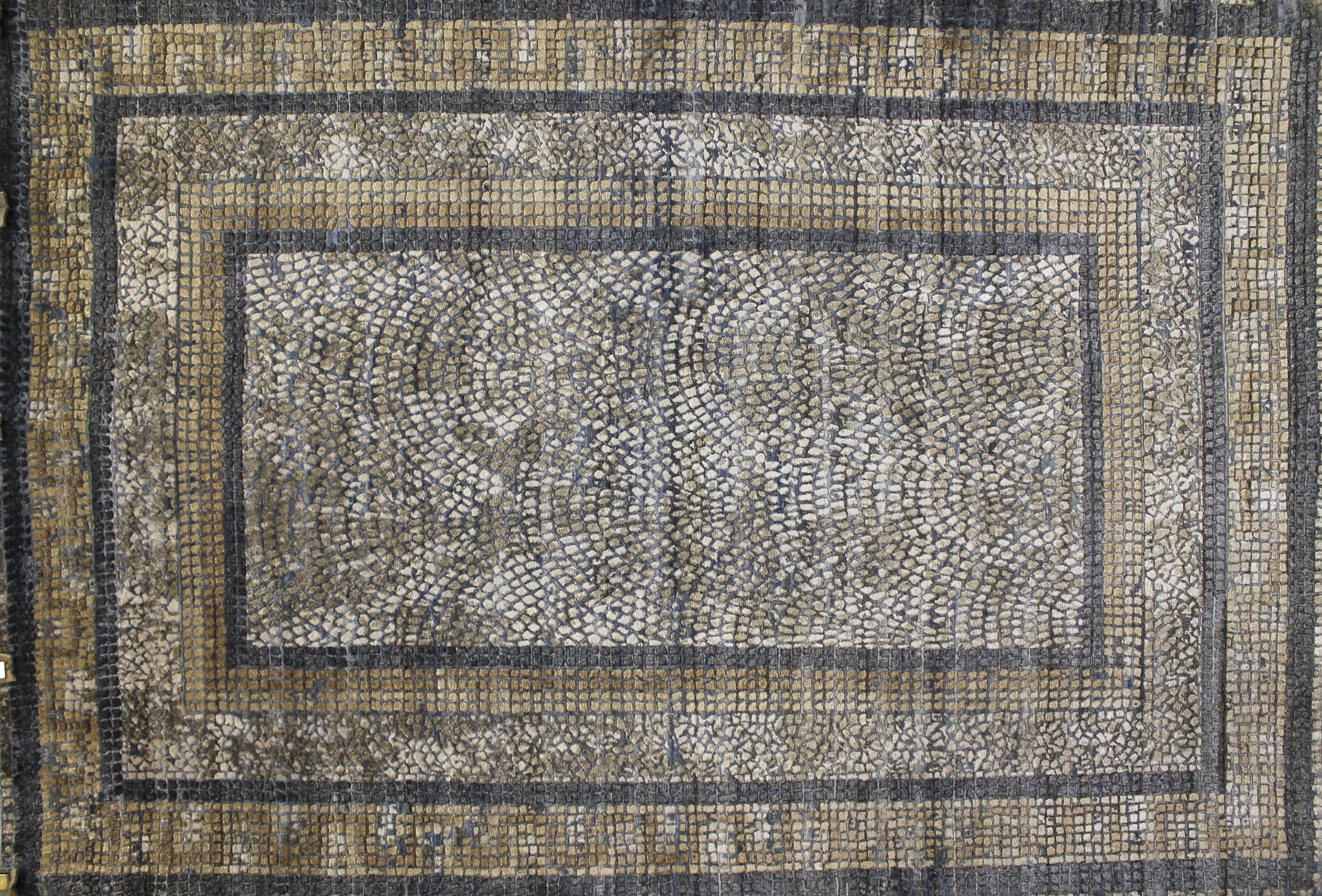 6x9 Contemporary Hand Knotted Wool Area Rug - MR022323