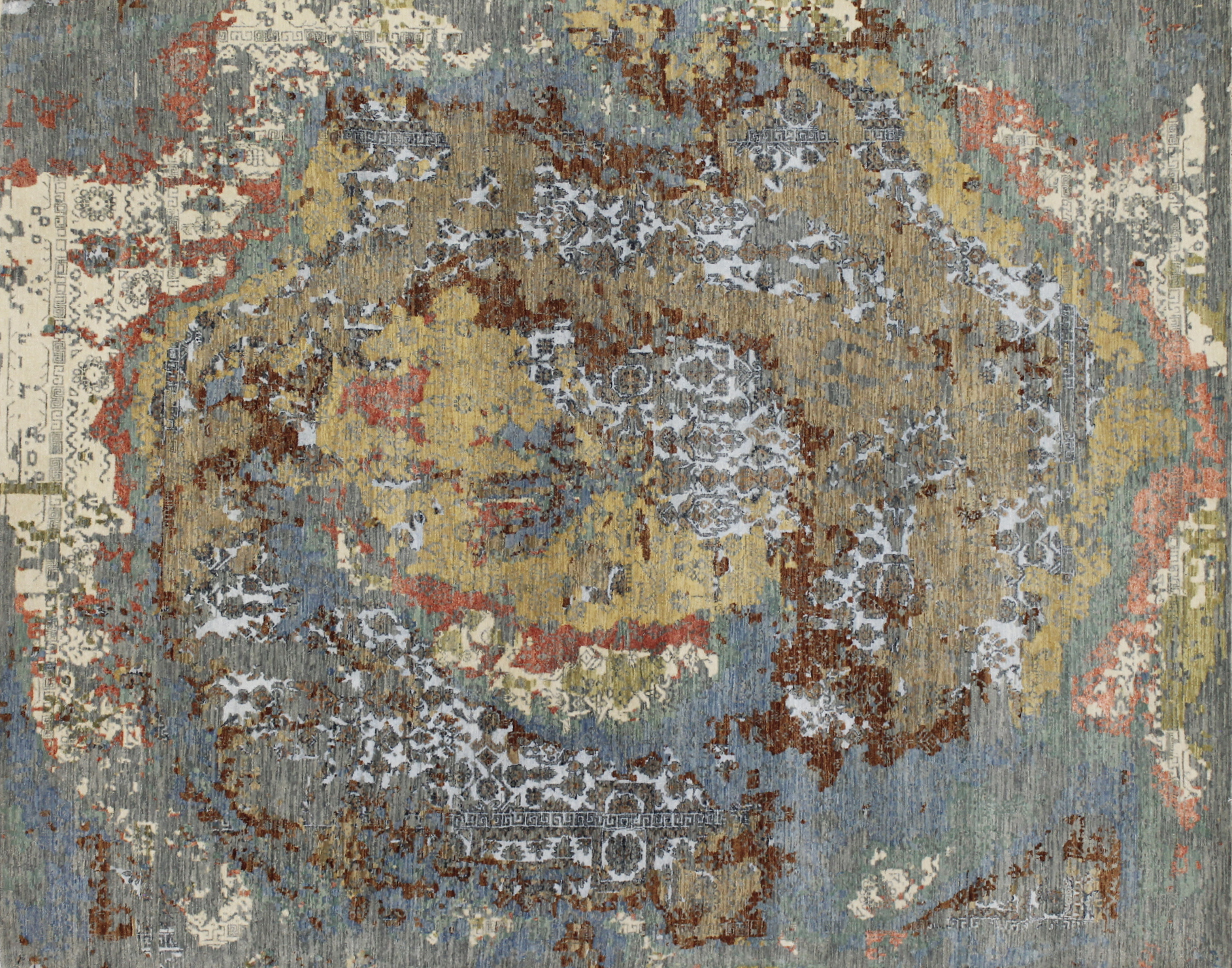 8x10 Contemporary Hand Knotted Wool Area Rug - MR022367