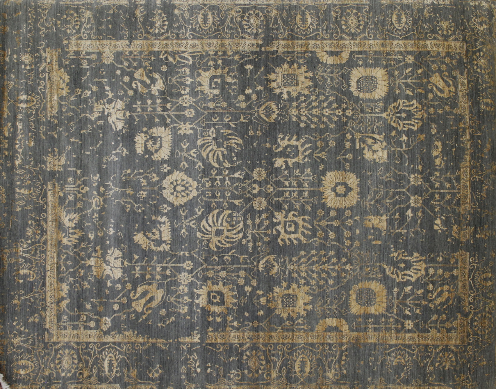 8x10 Contemporary Hand Knotted Wool Area Rug - MR022385