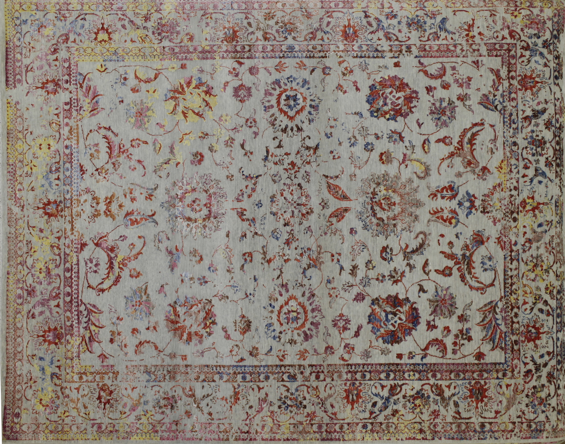8x10 Contemporary Hand Knotted Wool Area Rug - MR022391