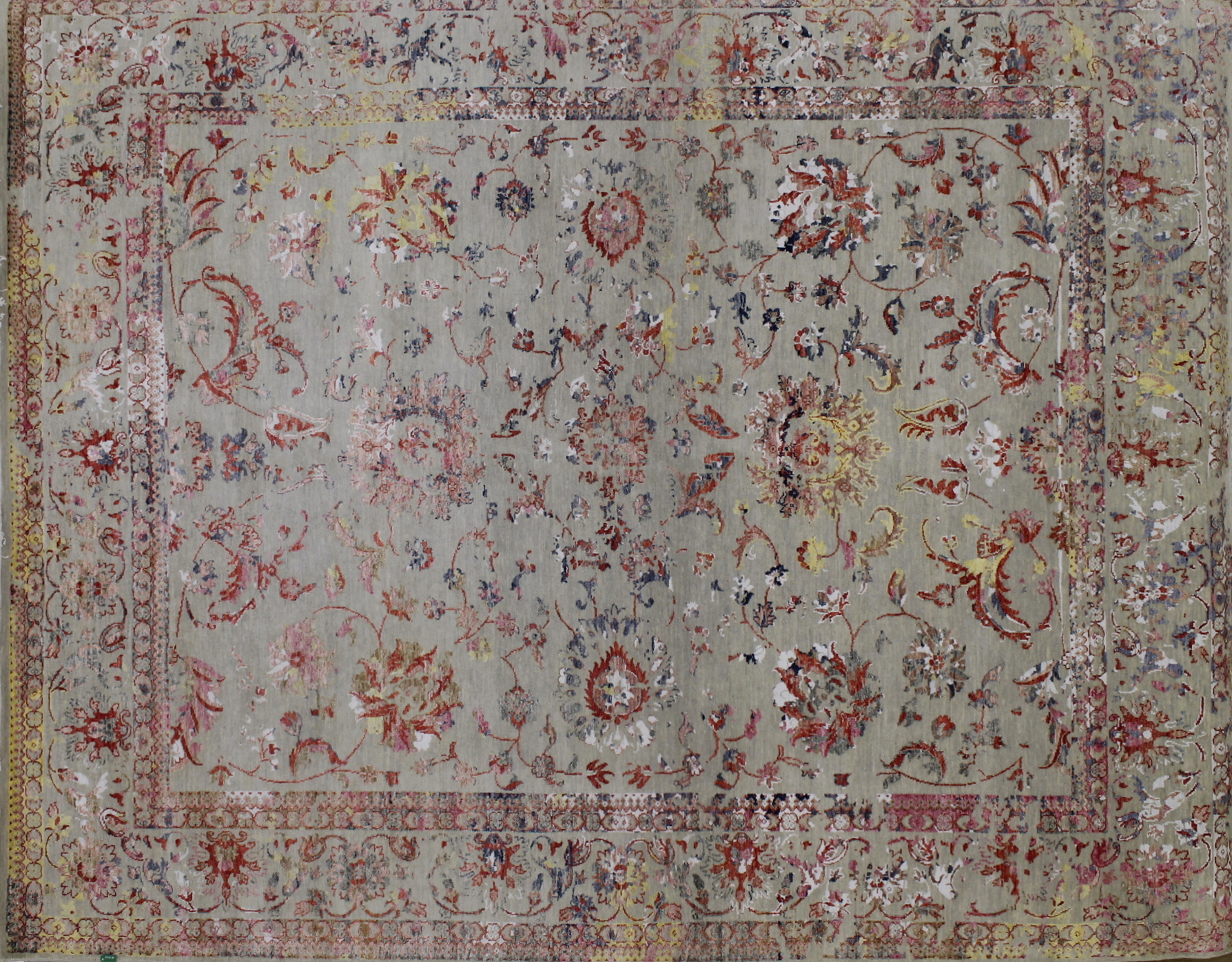 8x10 Contemporary Hand Knotted Wool Area Rug - MR022392