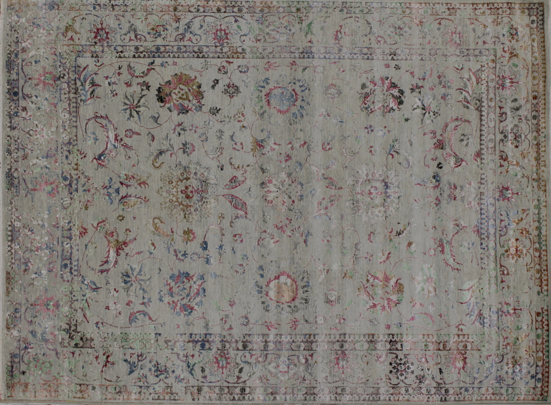 9x12 Contemporary Hand Knotted Wool Area Rug - MR022393