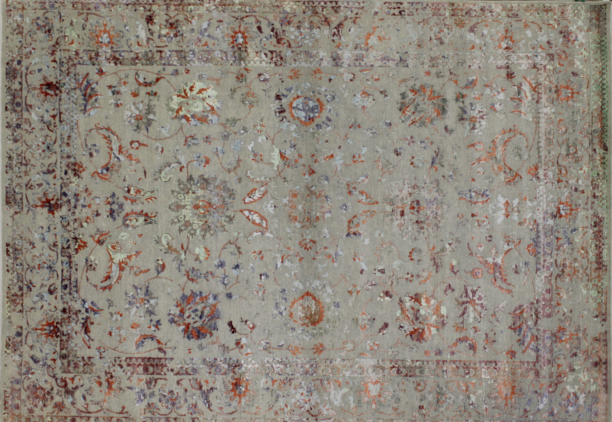 9x12 Contemporary Hand Knotted Wool Area Rug - MR022394