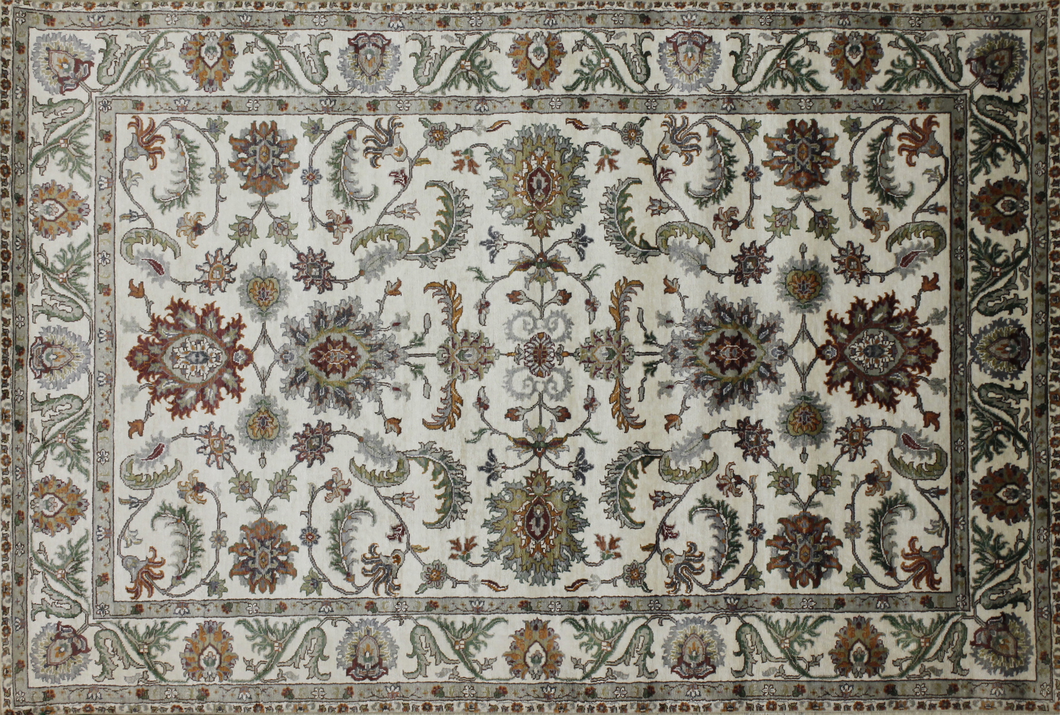 6x9 Traditional Hand Knotted Wool Area Rug - MR022410