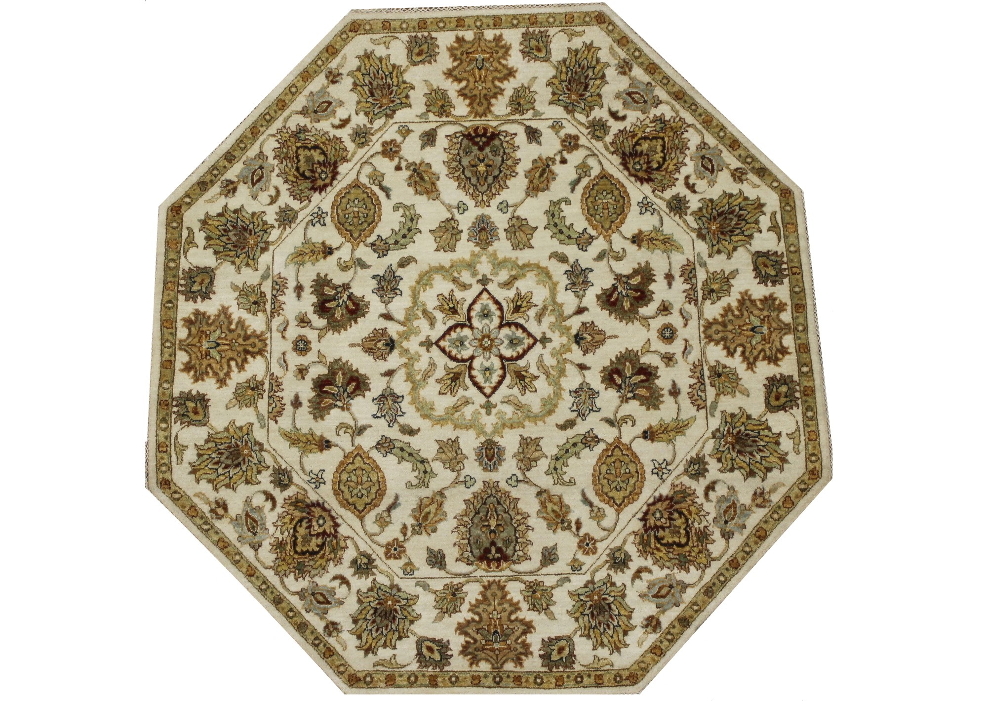 Traditional Hand Knotted Wool Area Rug - MR022412