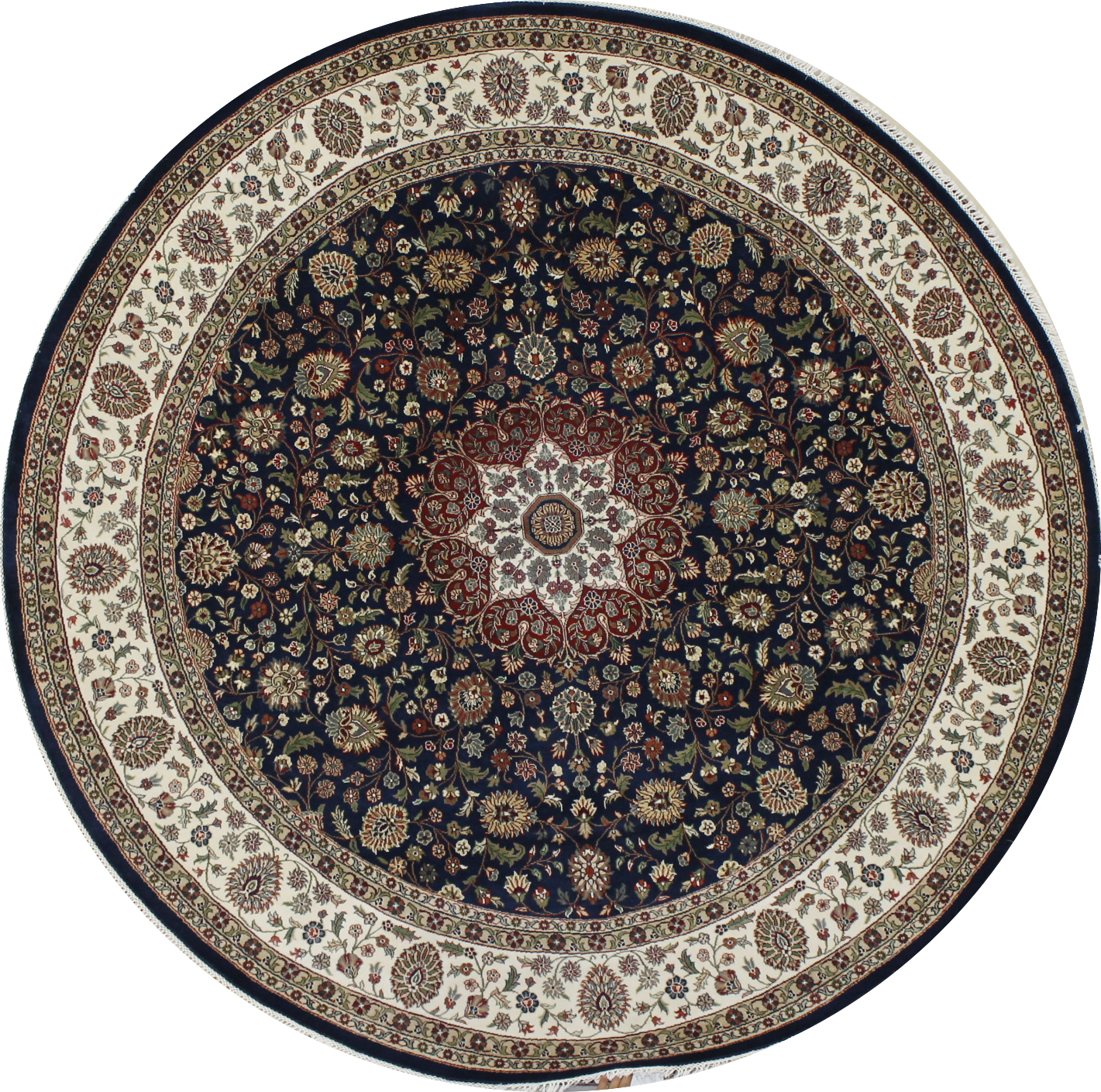 8 Round & Square Traditional Hand Knotted Wool Area Rug - MR022414