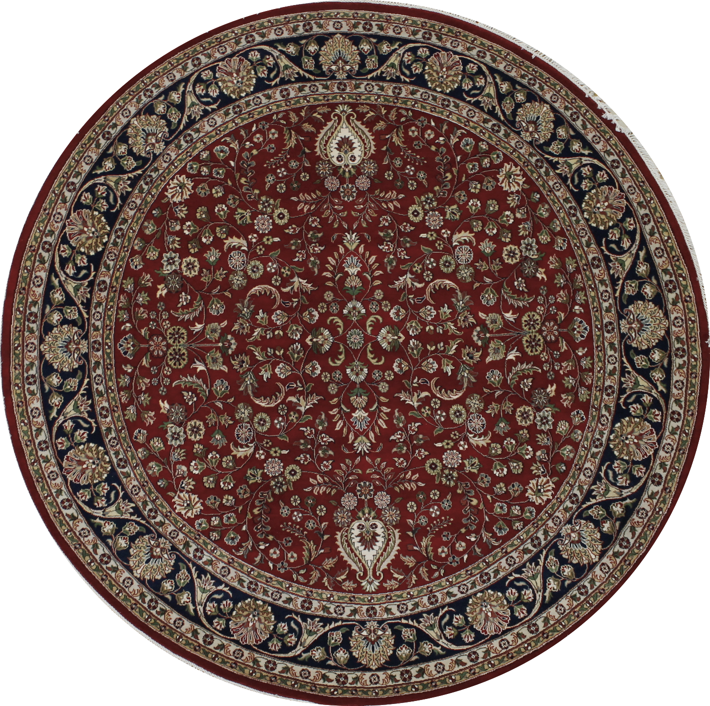 8 Round & Square Traditional Hand Knotted Wool Area Rug - MR022415