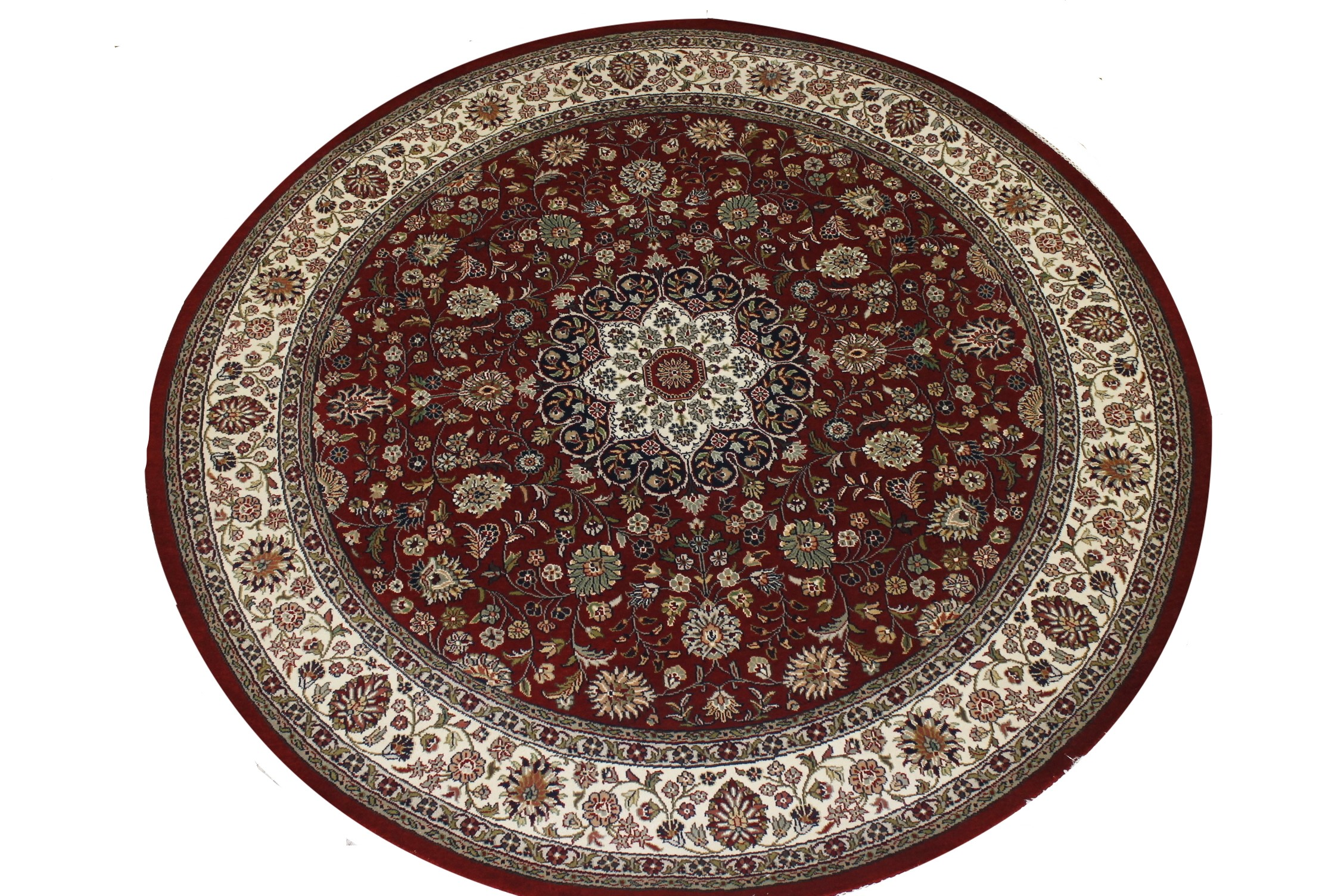 6 - 7 Round & Square Traditional Hand Knotted Wool Area Rug - MR022417