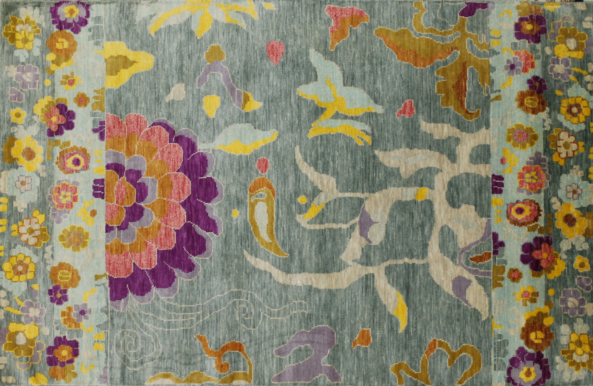 5x7/8 Contemporary Hand Knotted Wool Area Rug - MR022441