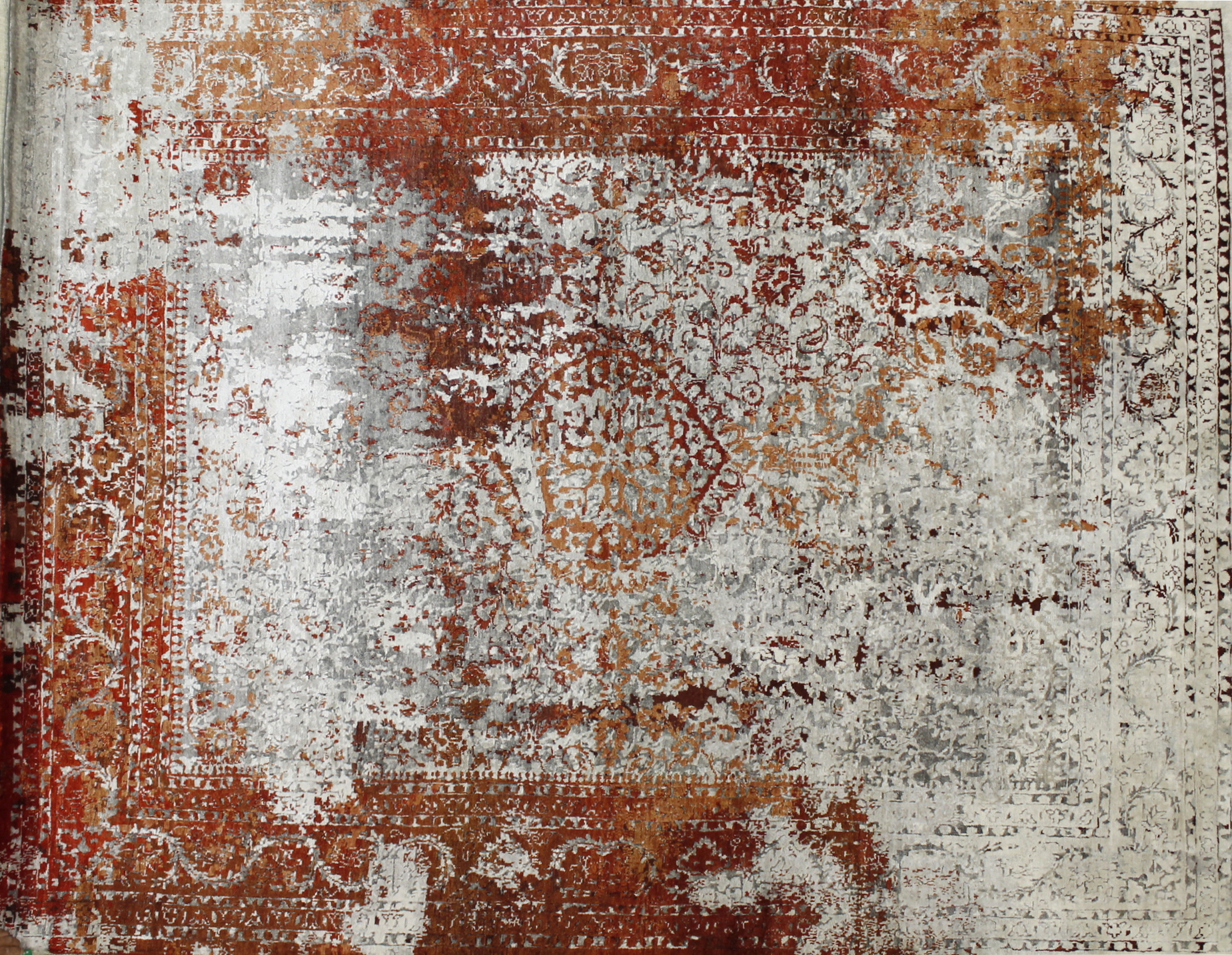 8x10 Contemporary Hand Knotted Wool Area Rug - MR022459