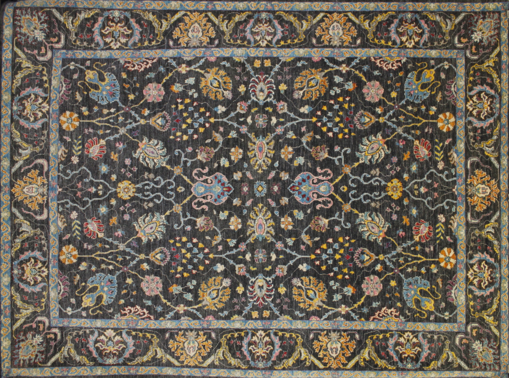 9x12 Modern Hand Knotted Wool Area Rug - MR022564