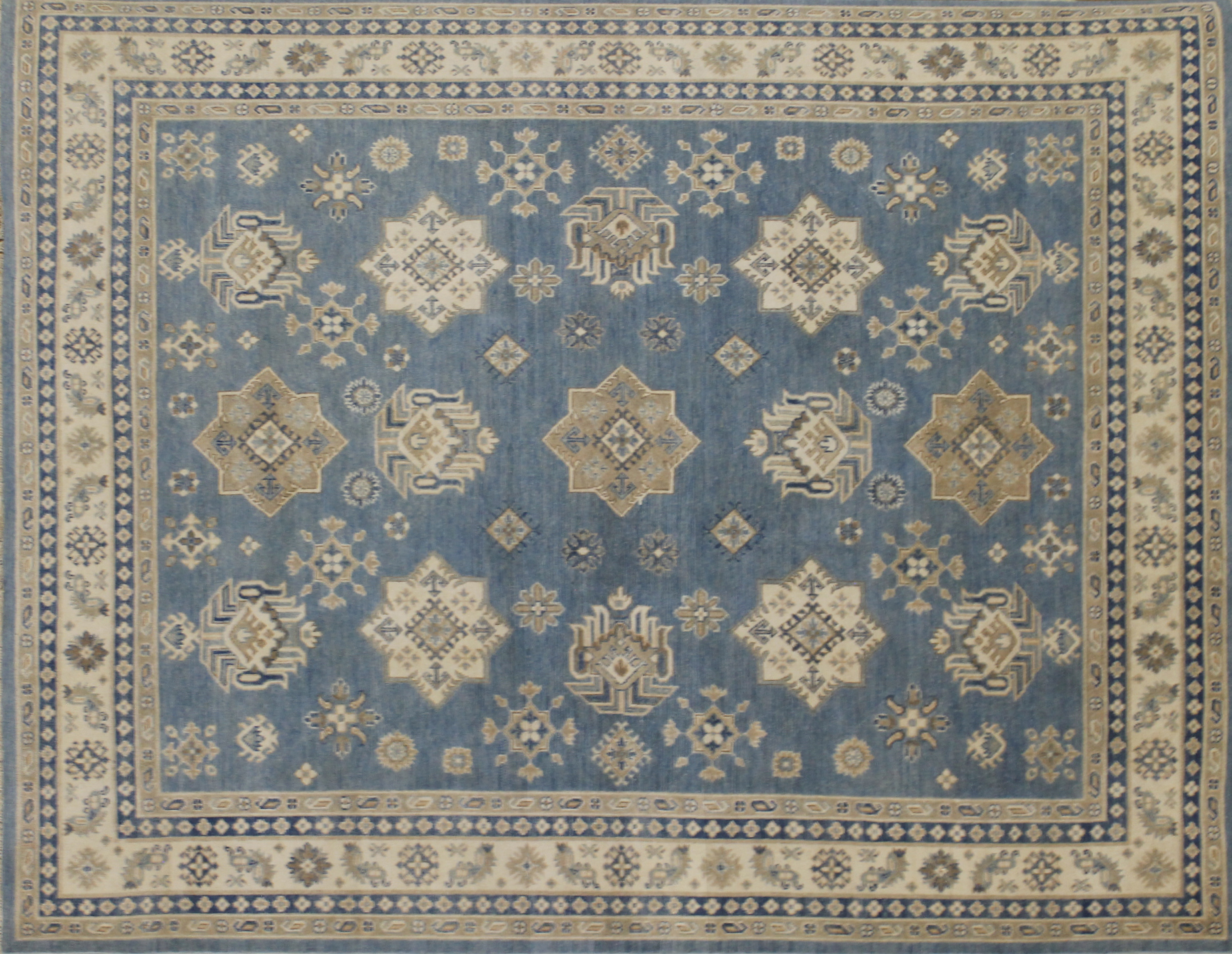 8x10 Kazak Hand Knotted Wool Area Rug - MR022571