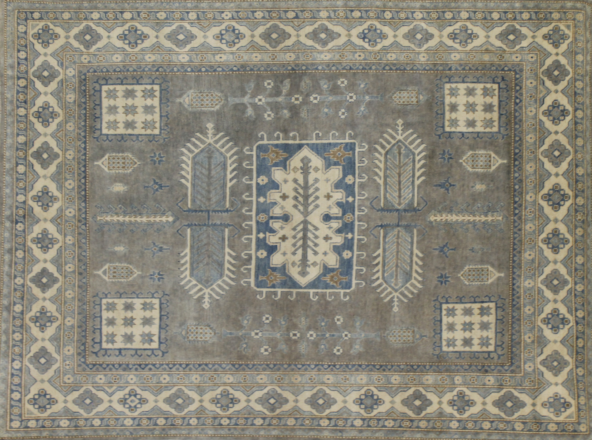8x10 Kazak Hand Knotted Wool Area Rug - MR022572