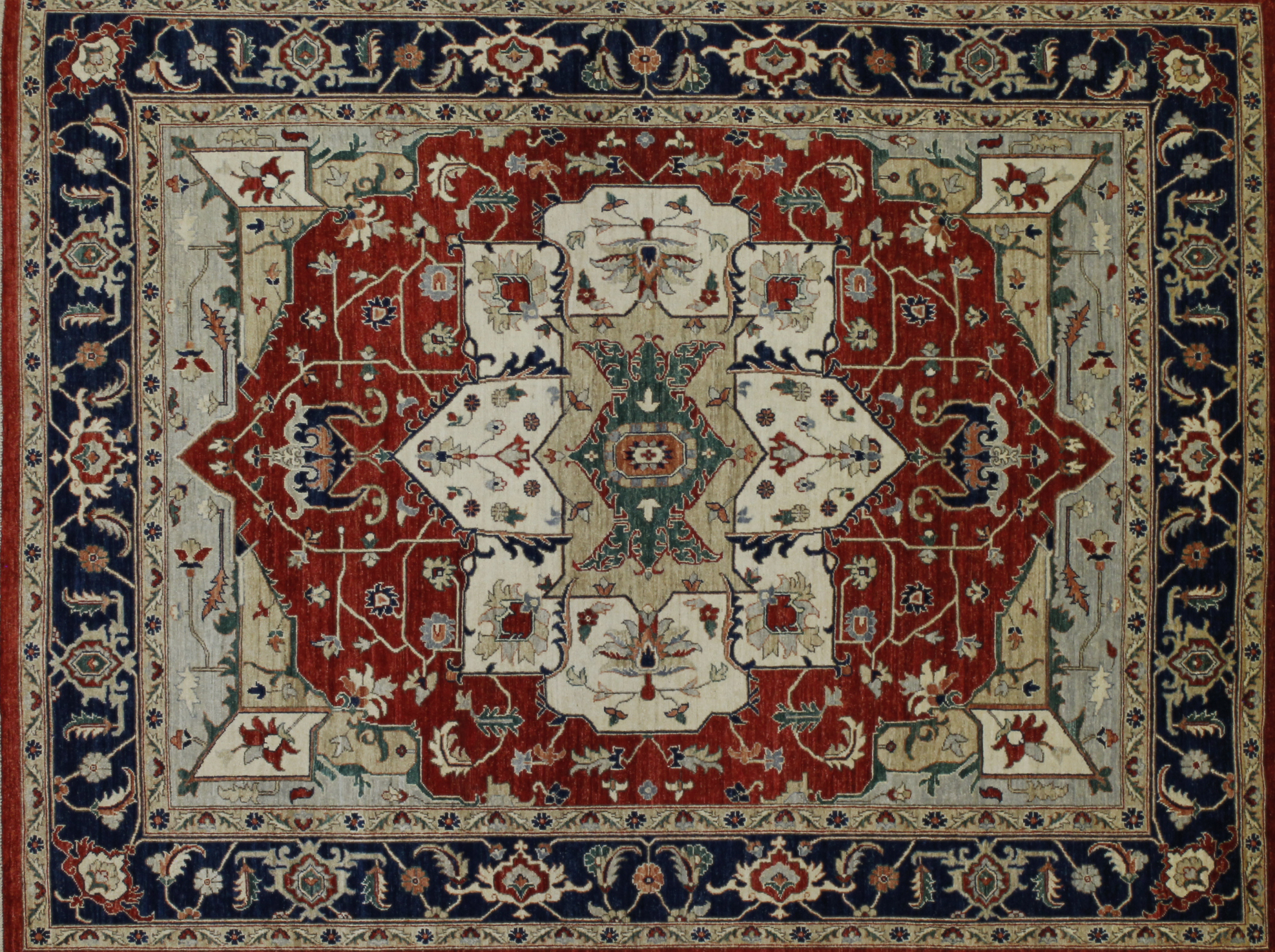 8x10 Peshawar Hand Knotted Wool Area Rug - MR022579