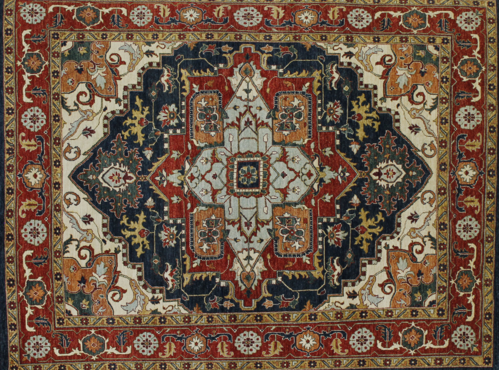 8x10 Peshawar Hand Knotted Wool Area Rug - MR022581