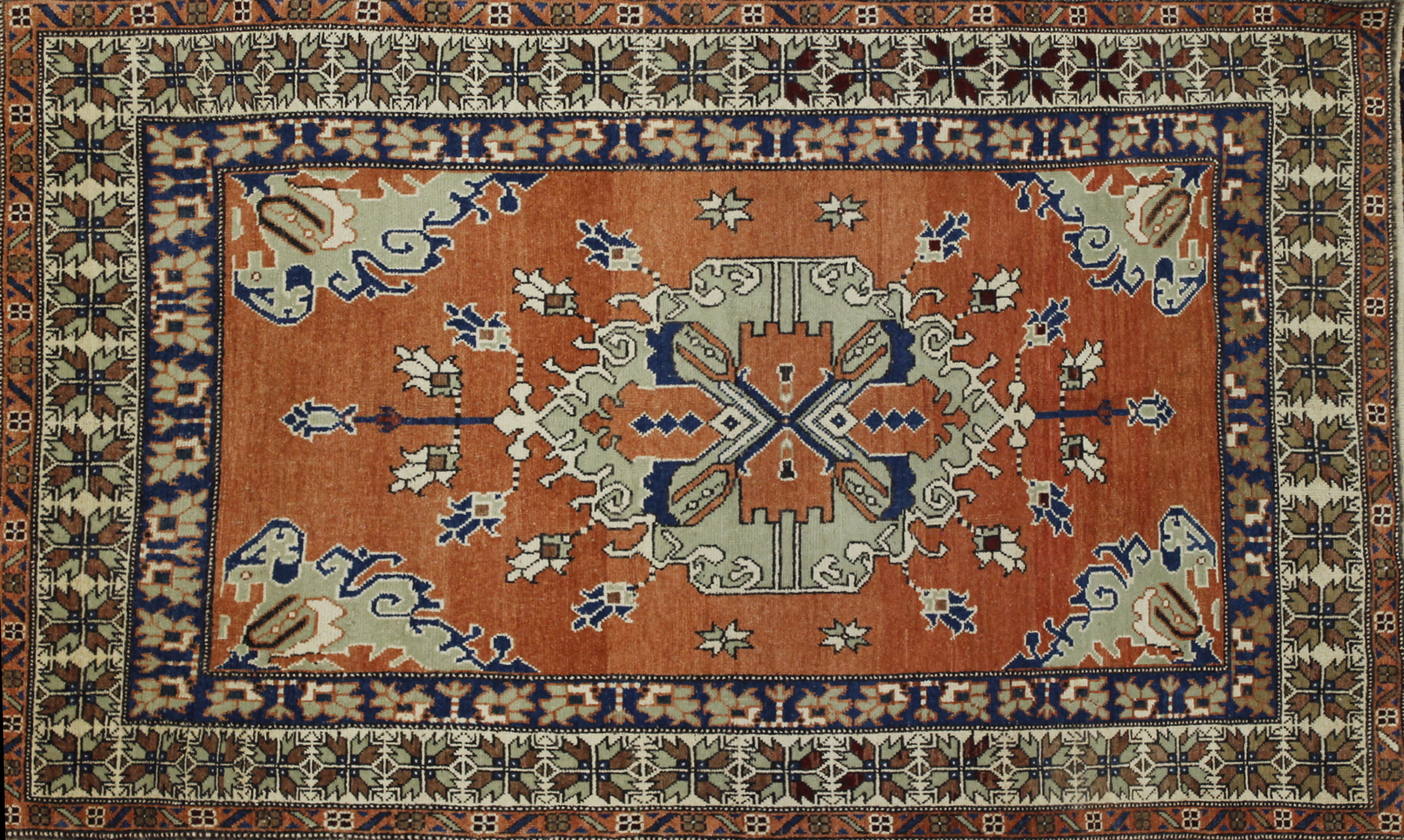 5x7/8 Tribal Hand Knotted Wool Area Rug - MR022594