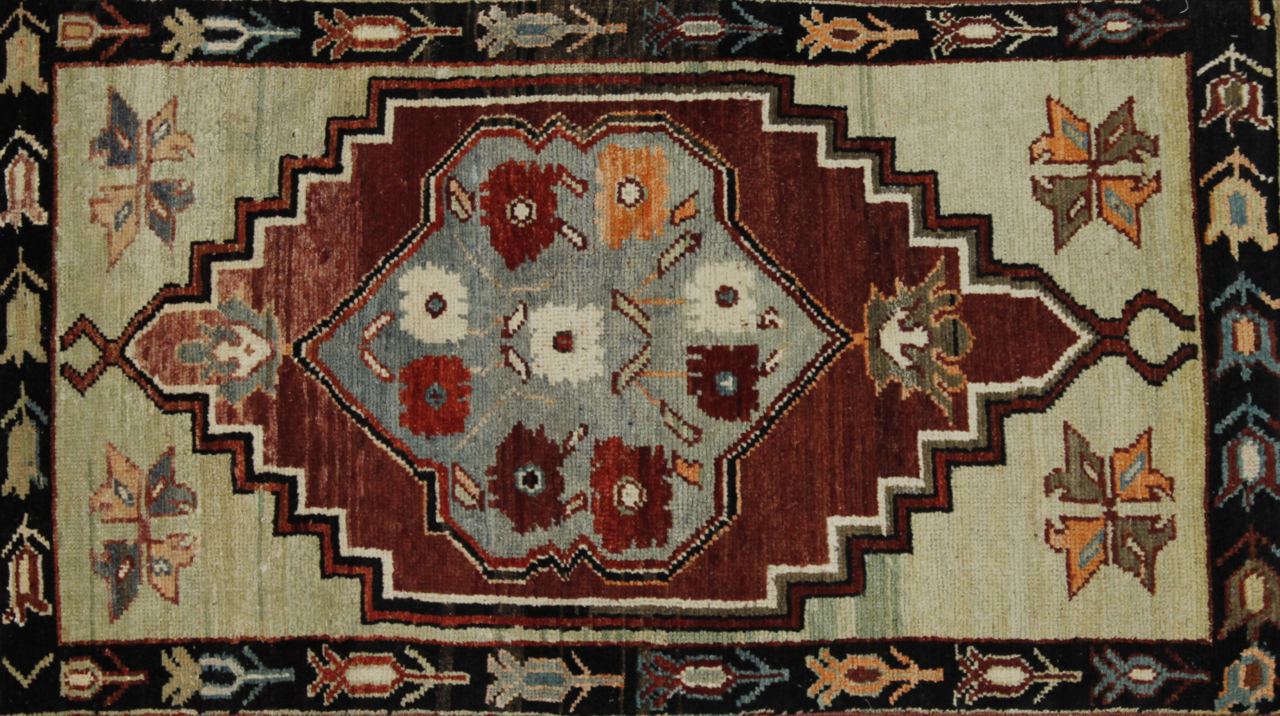 3x5 Tribal Hand Knotted Wool Area Rug - MR022597