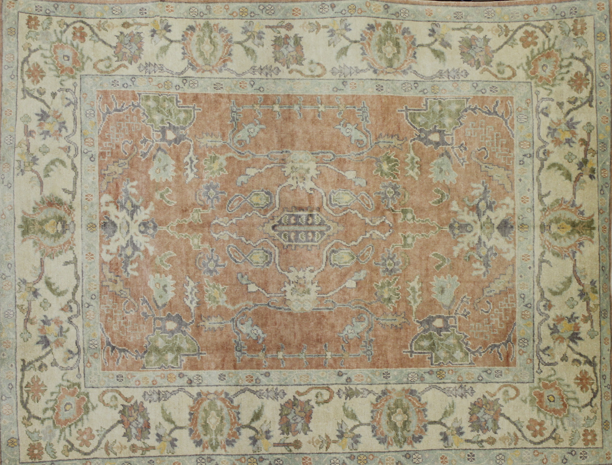 8x10 Oushak Hand Knotted Wool Area Rug - MR022602