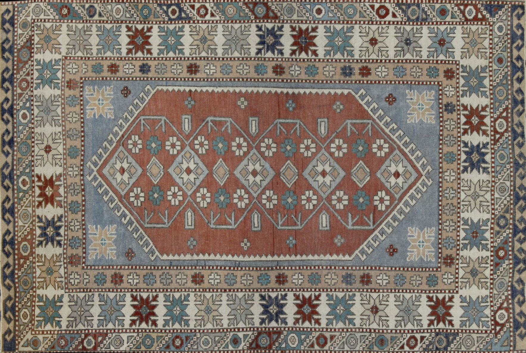4x6 Tribal Hand Knotted Wool Area Rug - MR022607