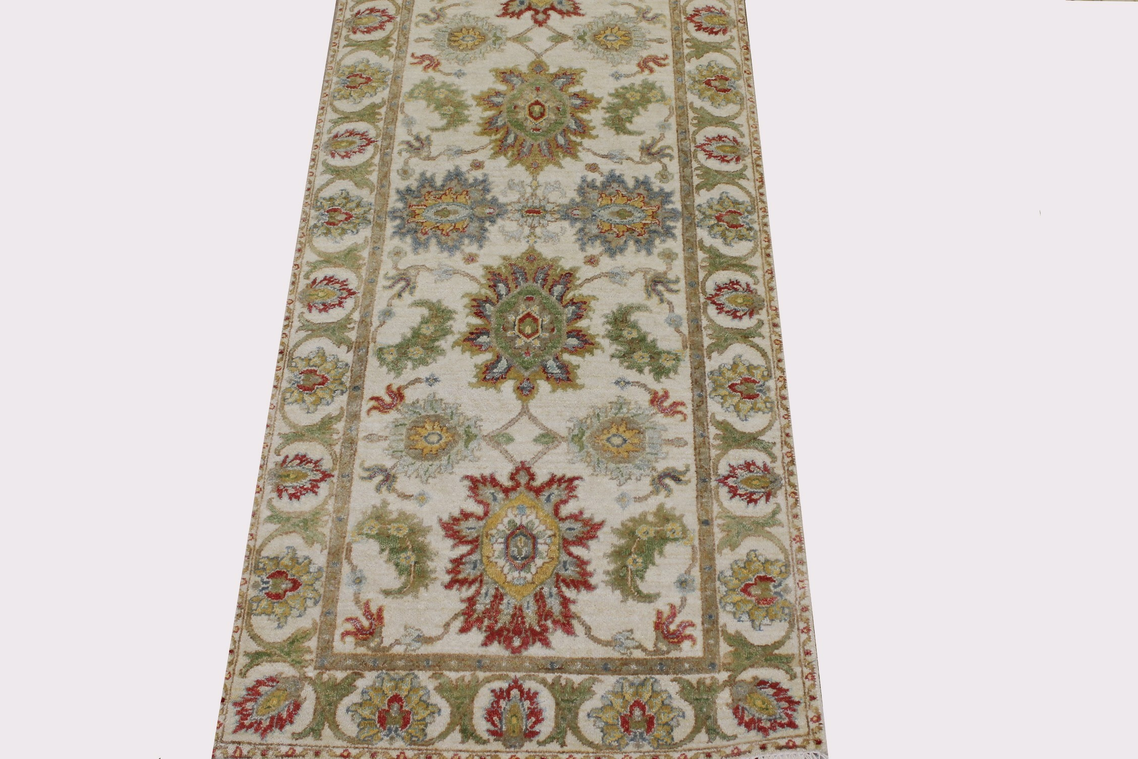 6 ft. Runner Traditional Hand Knotted Wool Area Rug - MR022651