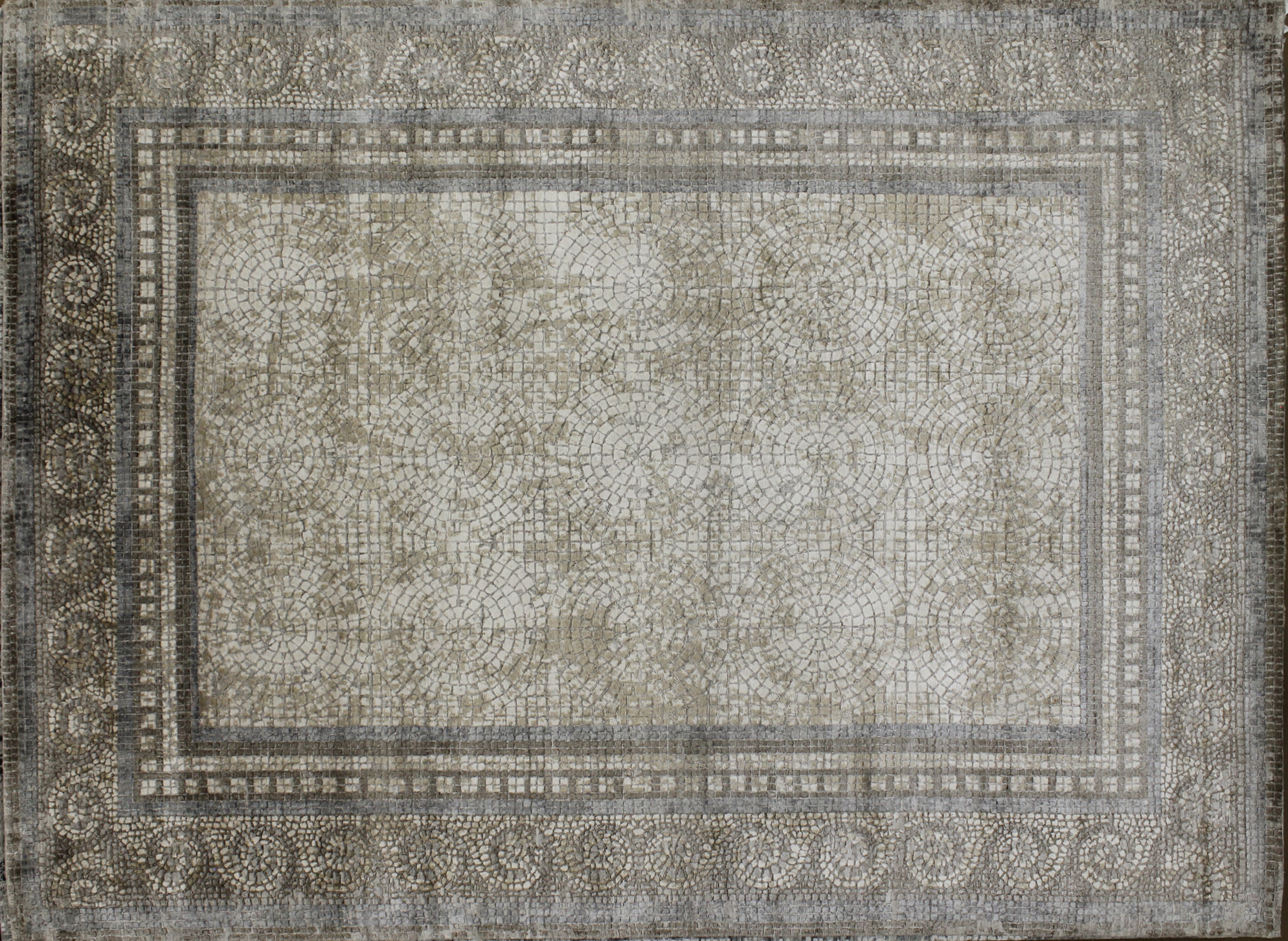 9x12 Transitional Hand Knotted Wool & Viscose Area Rug - MR022657
