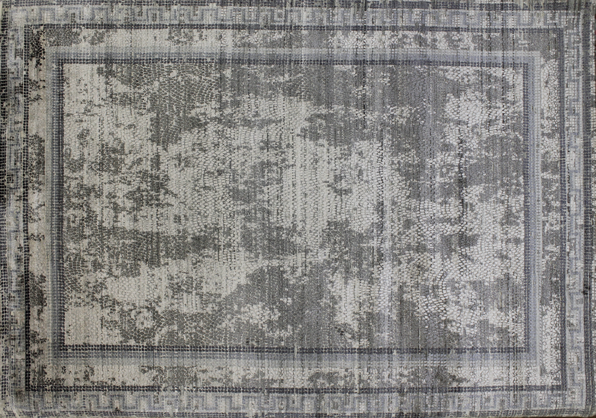 10x14 Transitional Hand Knotted Wool & Viscose Area Rug - MR022661