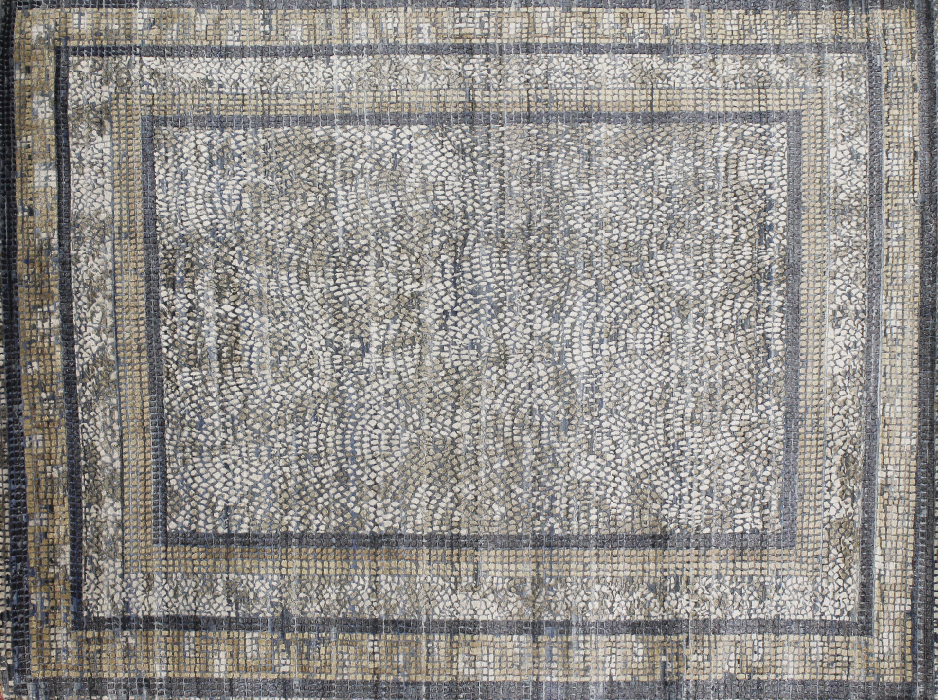 8x10 Transitional Hand Knotted Wool & Viscose Area Rug - MR022662