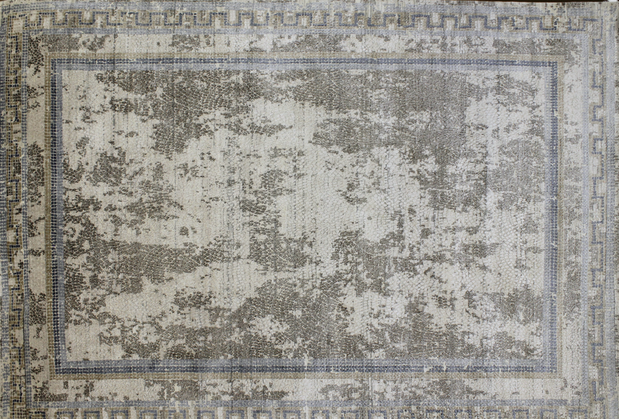 10x14 Transitional Hand Knotted Wool & Viscose Area Rug - MR022667