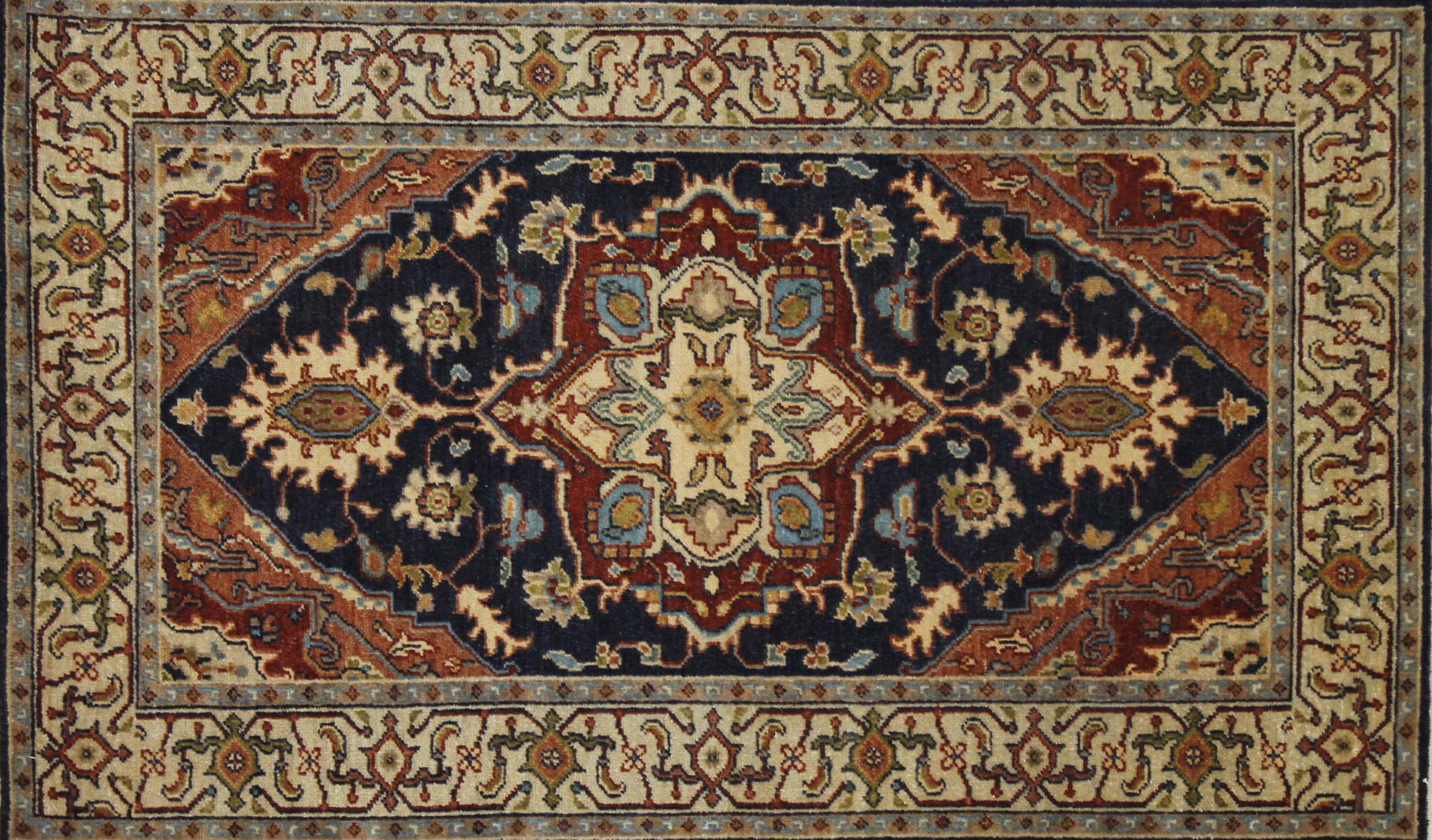 3x5 Heriz/Serapi Hand Knotted Wool Area Rug - MR022673