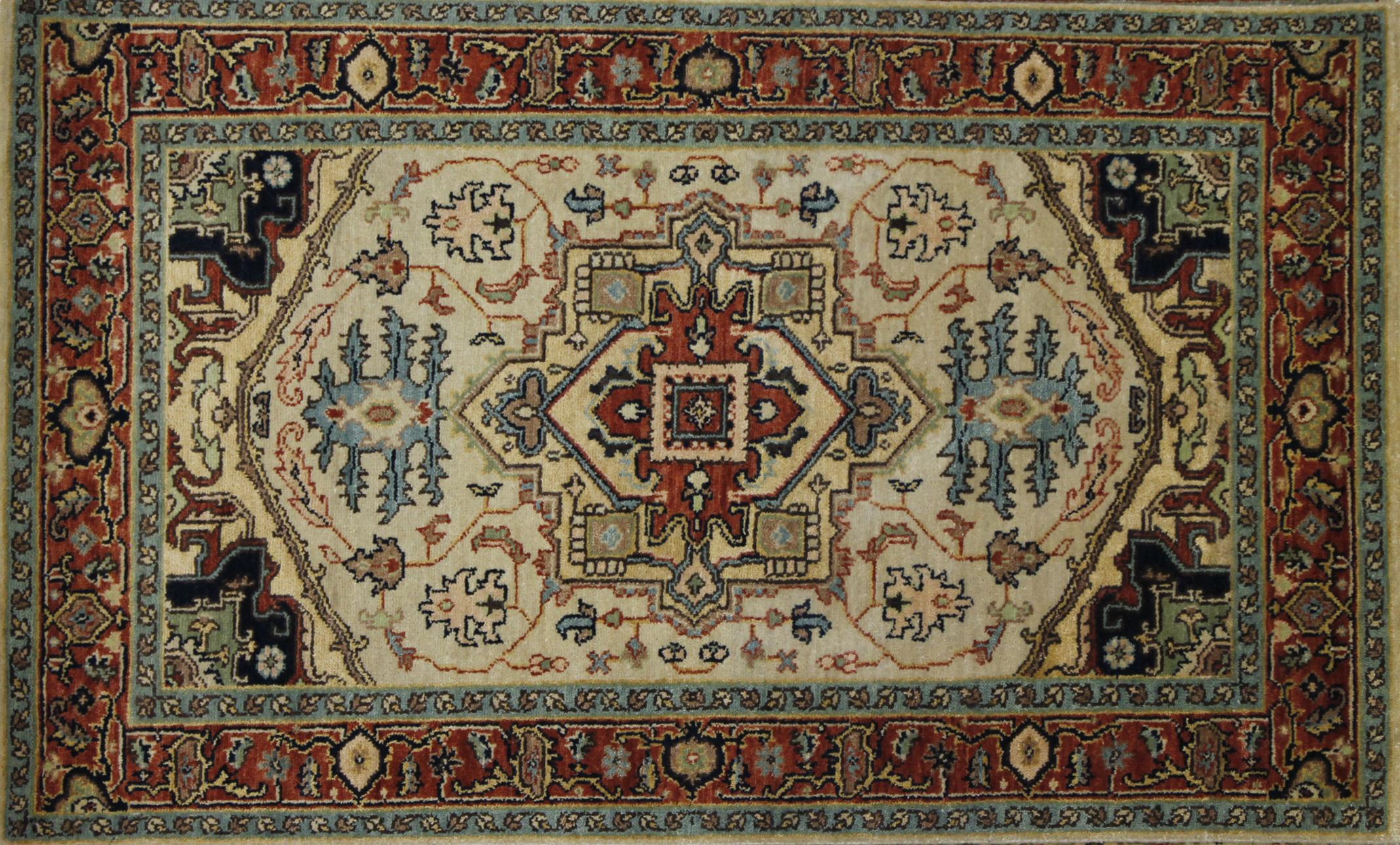 3x5 Heriz/Serapi Hand Knotted Wool Area Rug - MR022675