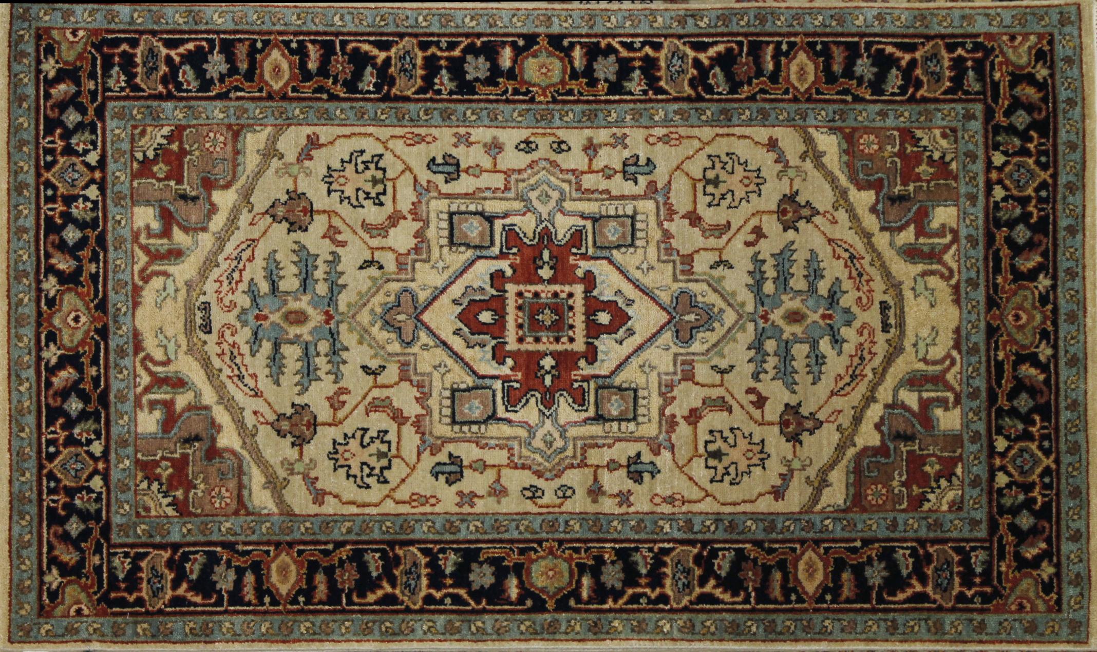 3x5 Heriz/Serapi Hand Knotted Wool Area Rug - MR022677