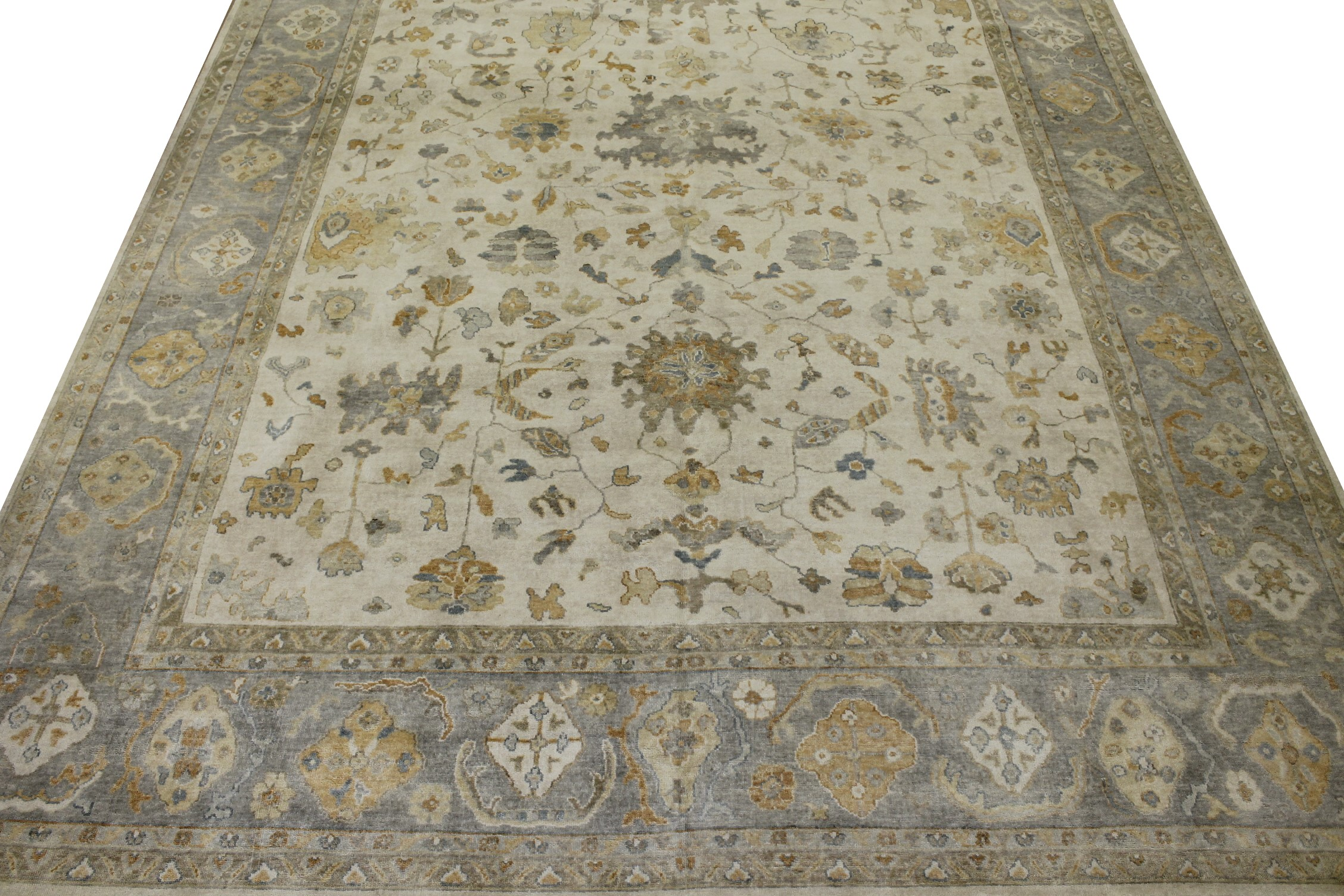 OVERSIZE Oushak Hand Knotted Wool Area Rug - MR022719
