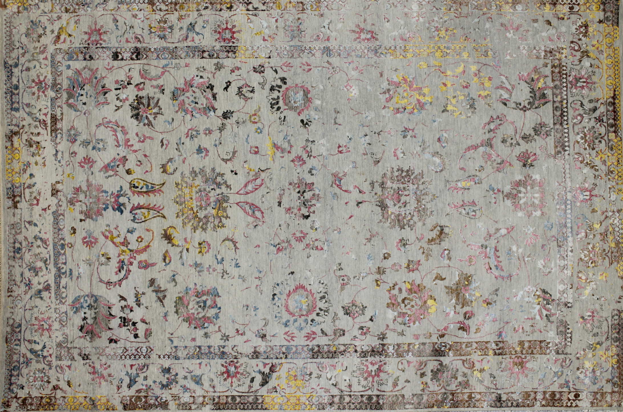 10x14 Transitional Hand Knotted Wool & Viscose Area Rug - MR022731