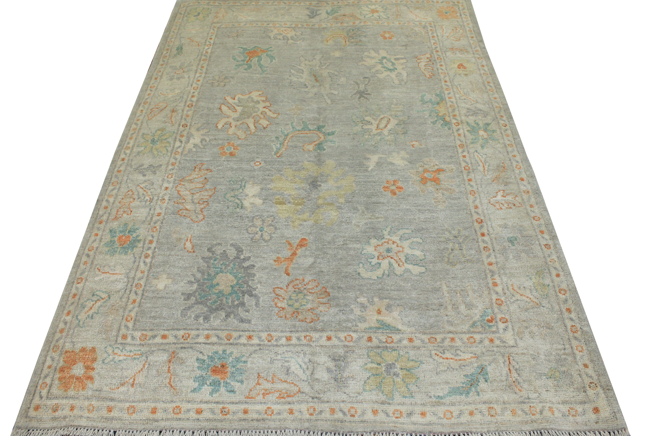 5x7/8  Hand Knotted Wool Area Rug - MR022814