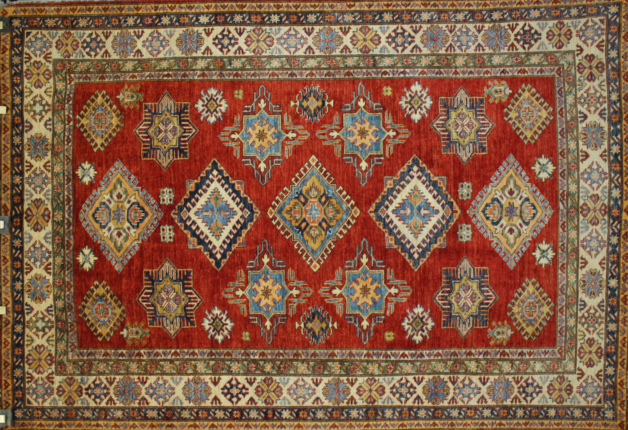 6x9 Kazak Hand Knotted Wool Area Rug - MR022816