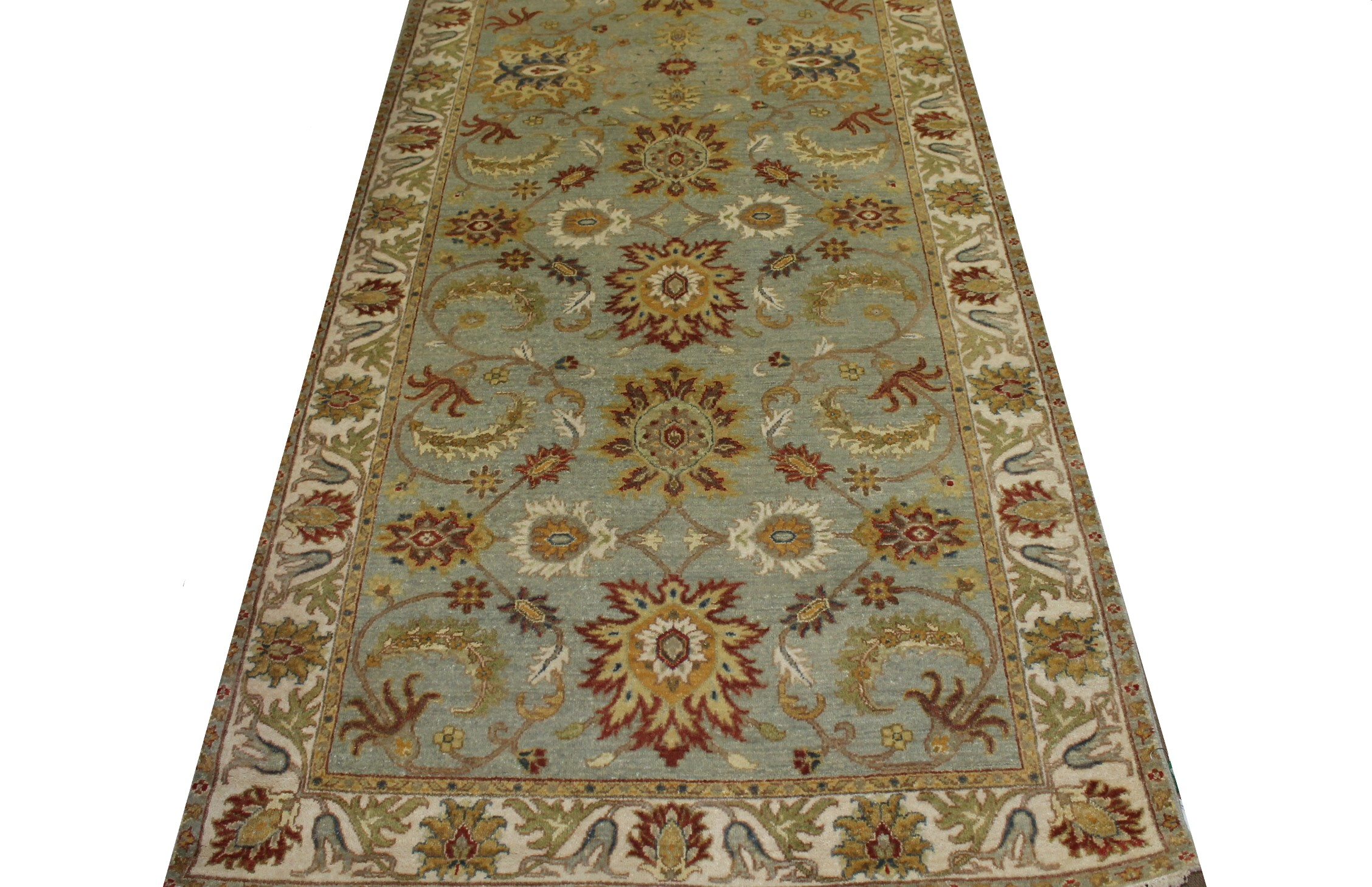 Wide Runner Traditional Hand Knotted Wool Area Rug - MR022867