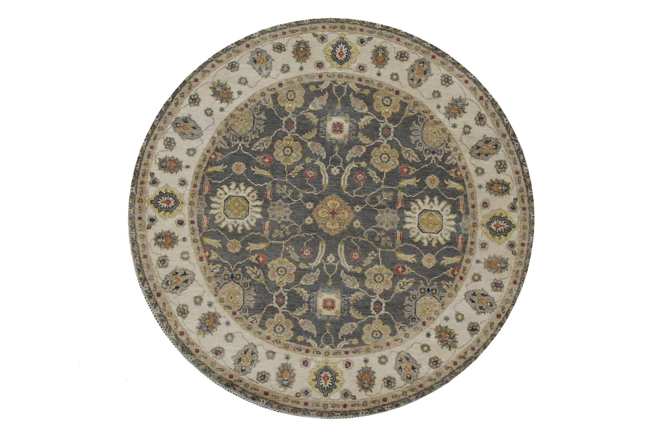 6 ft. - 7 ft. Round & Square Traditional Hand Knotted  Area Rug - MR022874